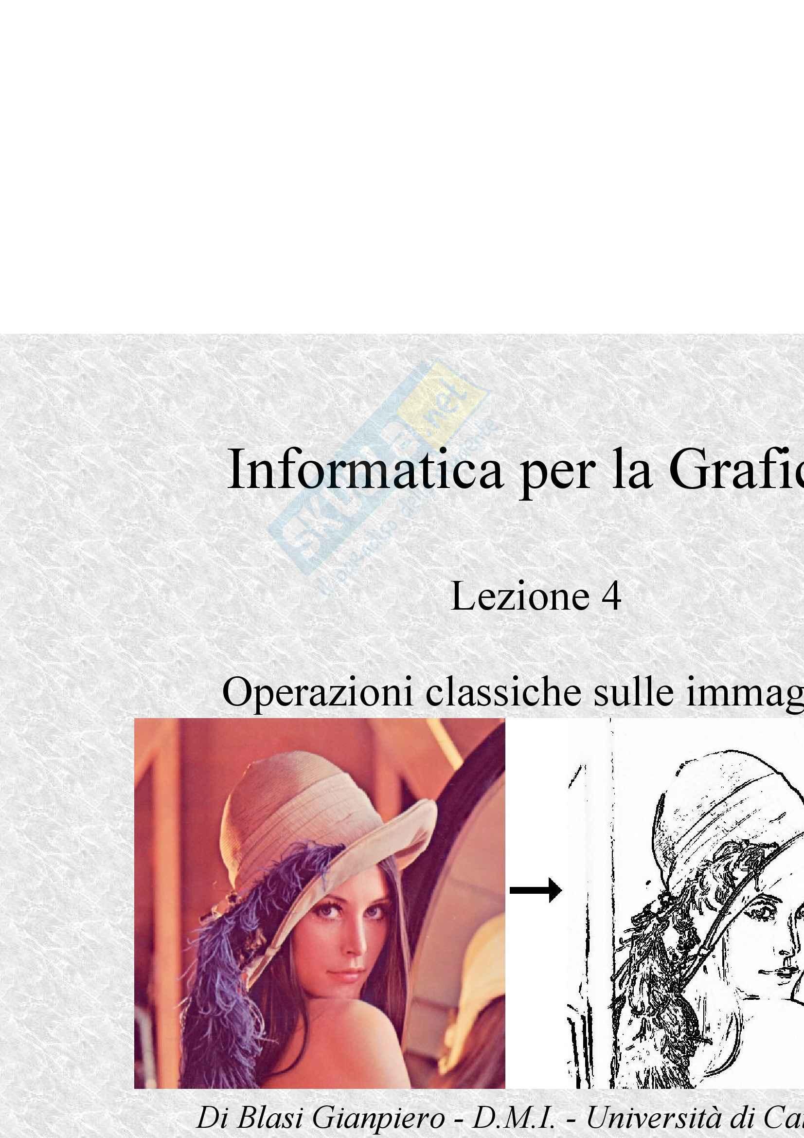 Operazioni classiche sulle immagini