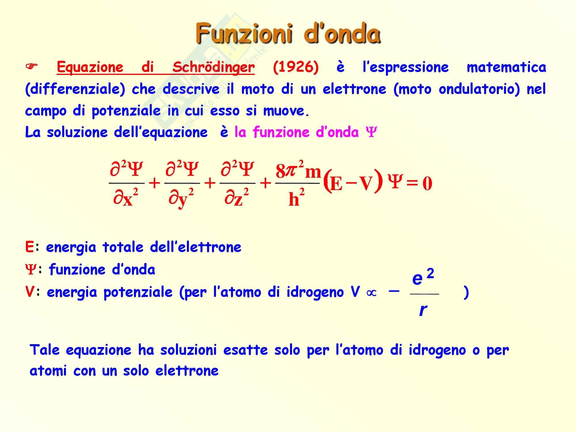 Chimica inorganica - numeri quantici e funzioni d'onda