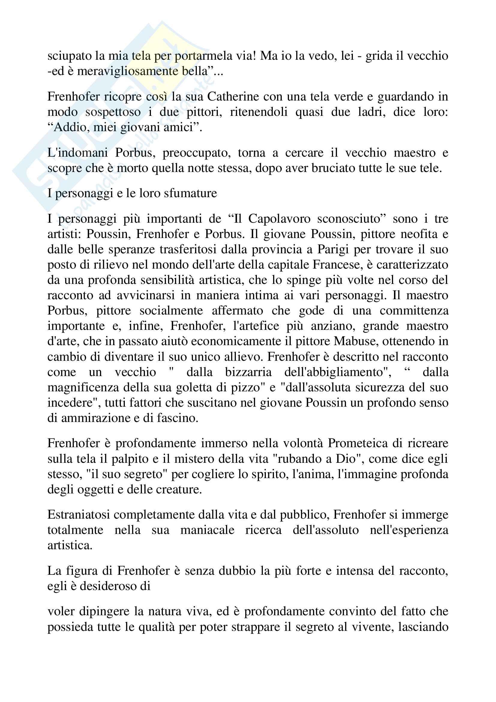 Il capolavoro sconosciuto. Honorè de Balzac Pag. 6