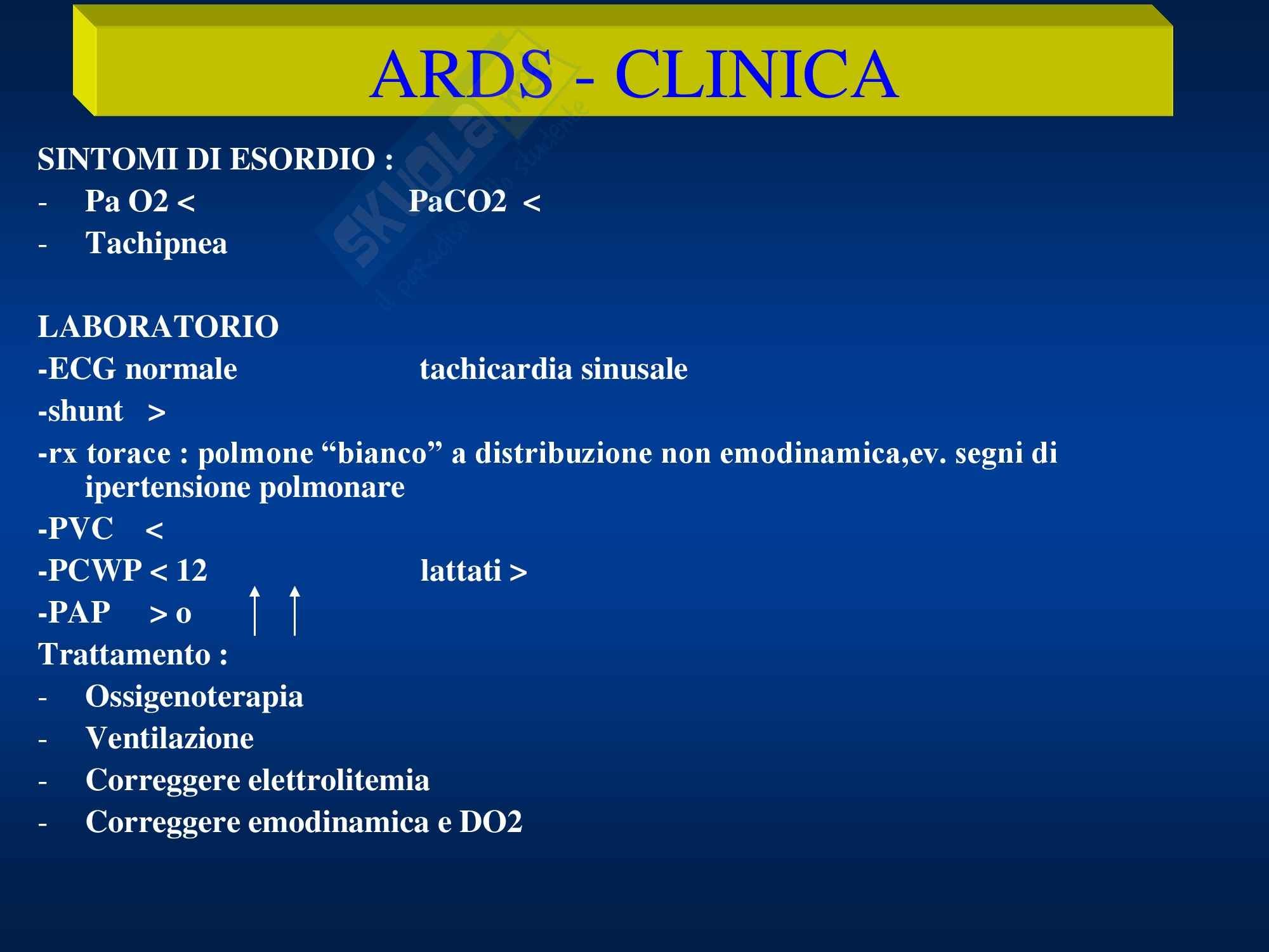 Anestesia - ARDS Shock