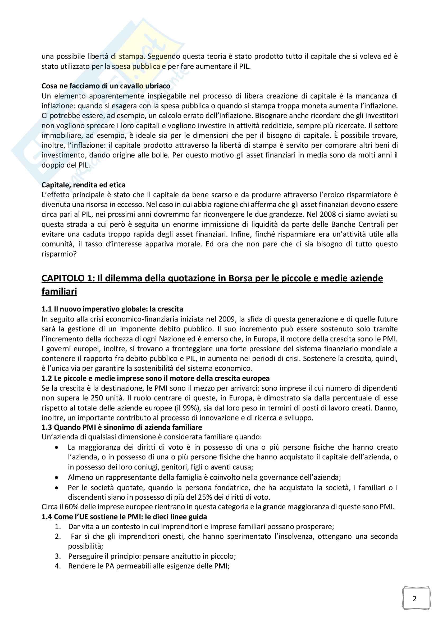 Riassunto esame Family business, prof. Bernardo Bertoldi, libro consigliato La famiglia imprenditoriale e le sfide per l azienda familiare, Bertoldi Pag. 2