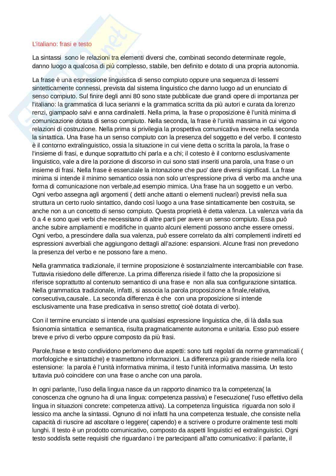 Redazione e revisione in lingua italiana - italiano, frasi e testo