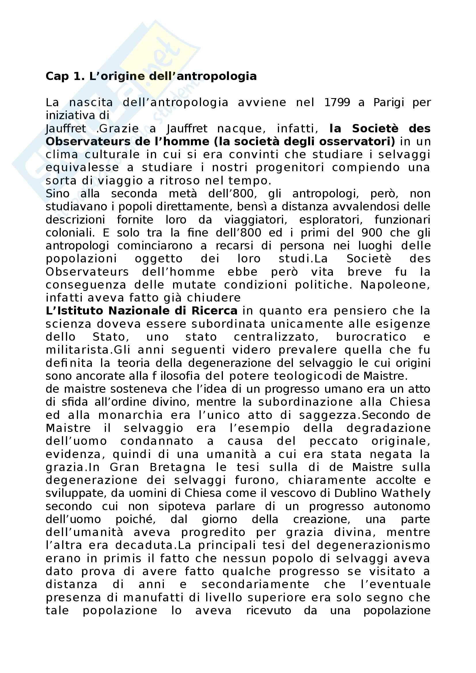 Riassunto esame Antropologia culturale, prof. Bonato, libro consigliato Antropologia culturale, Kottak