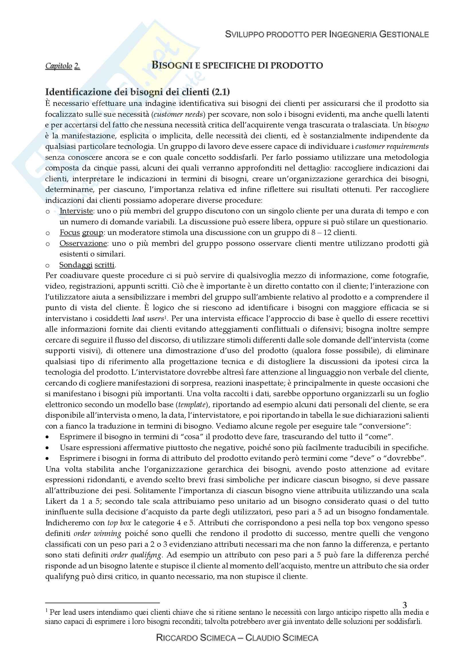 Ingegnerizzazione e sviluppo prodotto Pag. 6