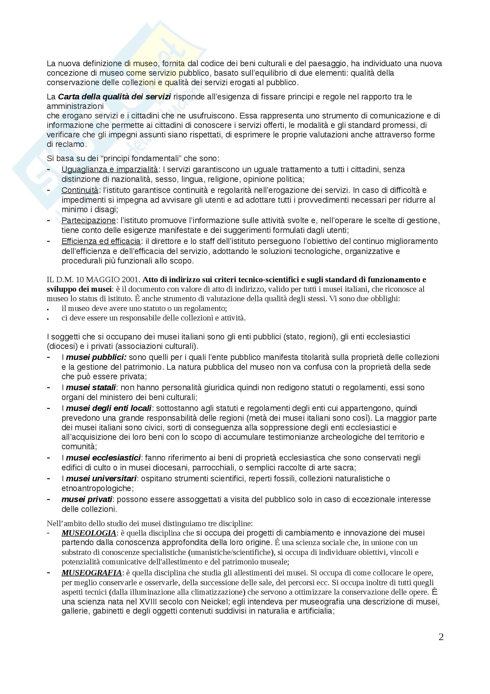 Museologia e storia del collezionismo Pag. 2