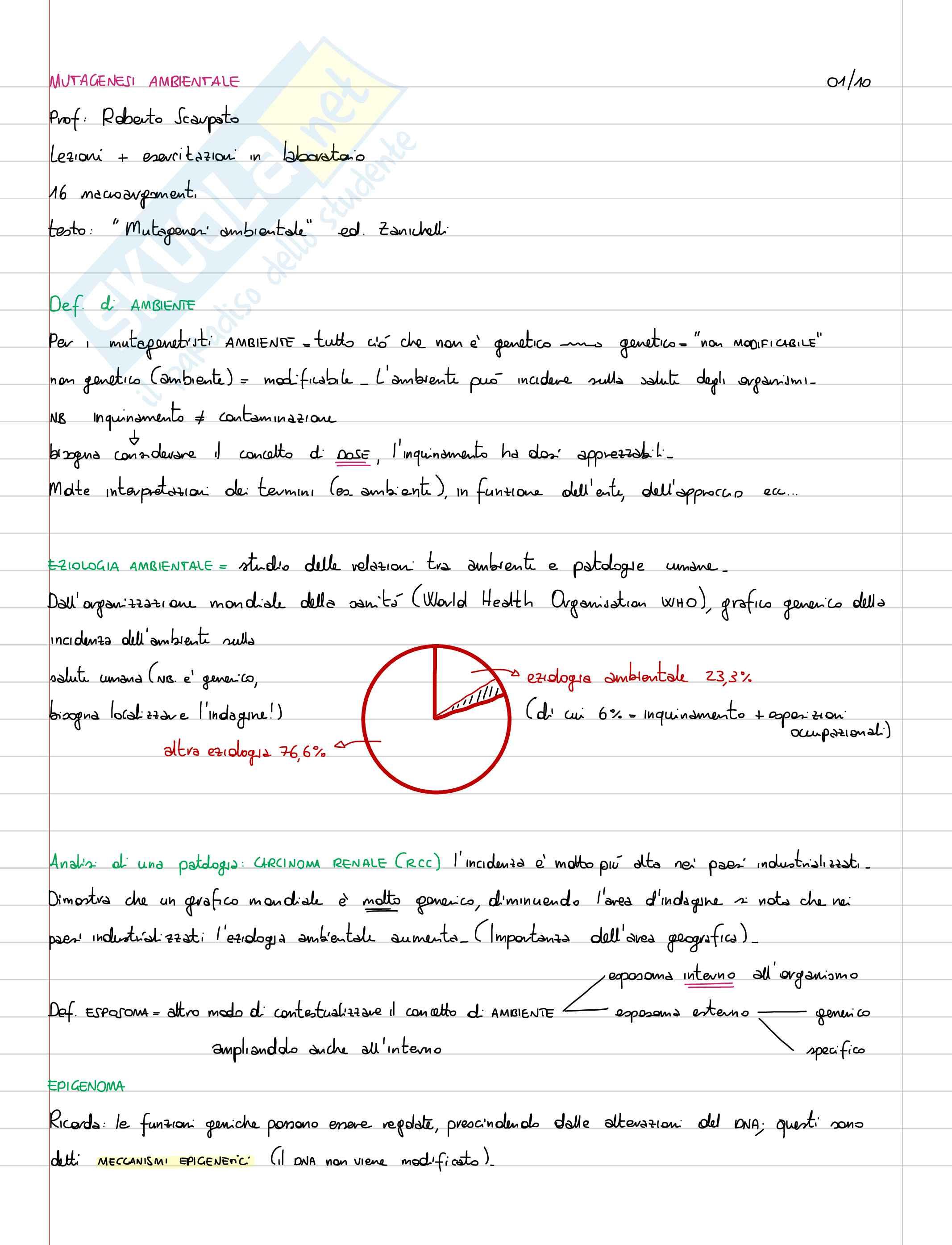 appunto R. Scarpato Mutagenesi Ambientale