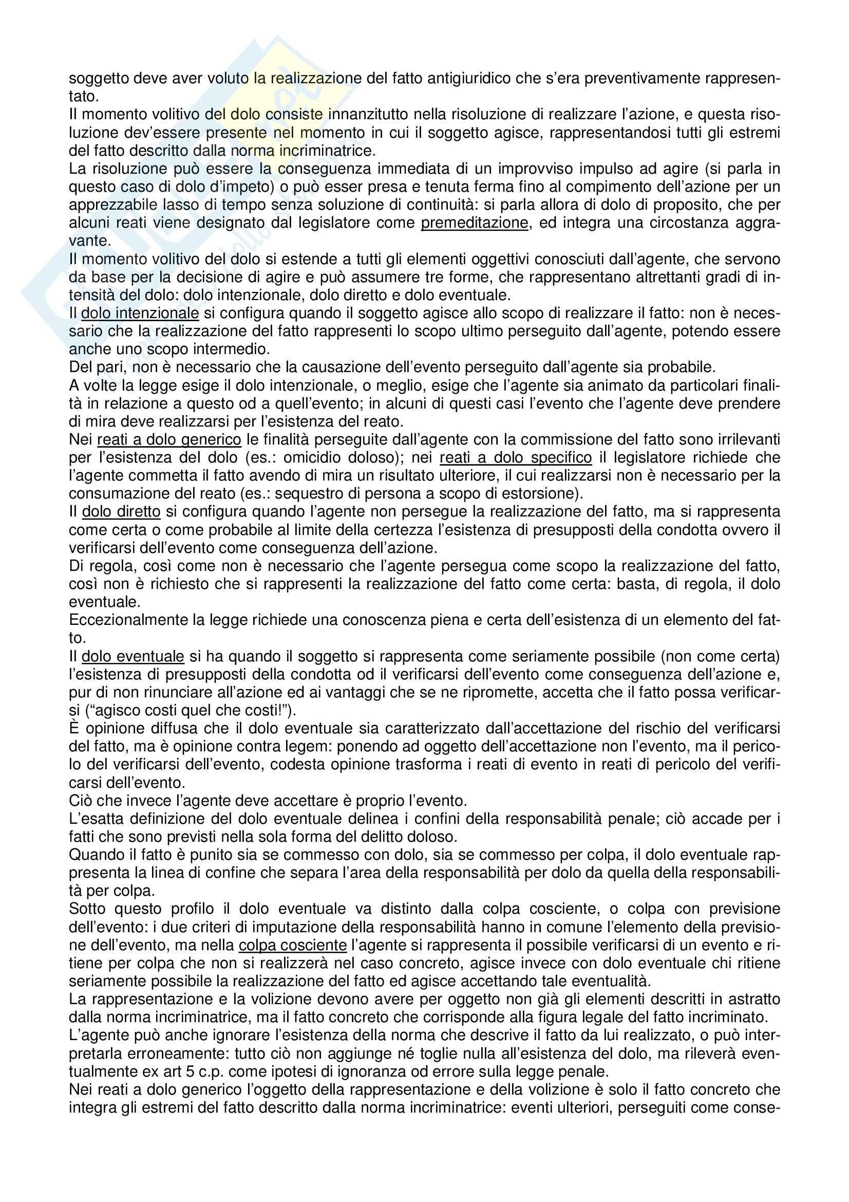 Riassunto esame Diritto Penale, prof. indefinito, libro consigliato Manuale di Diritto Penale, Marinucci, Dolcini Pag. 36