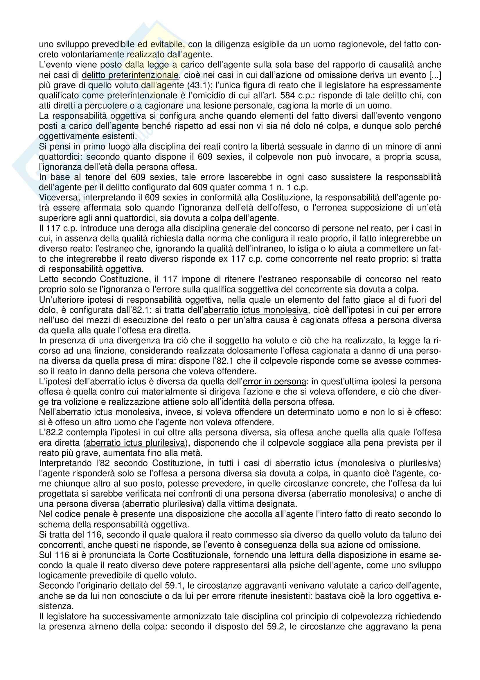Riassunto esame Diritto Penale, prof. indefinito, libro consigliato Manuale di Diritto Penale, Marinucci, Dolcini Pag. 41