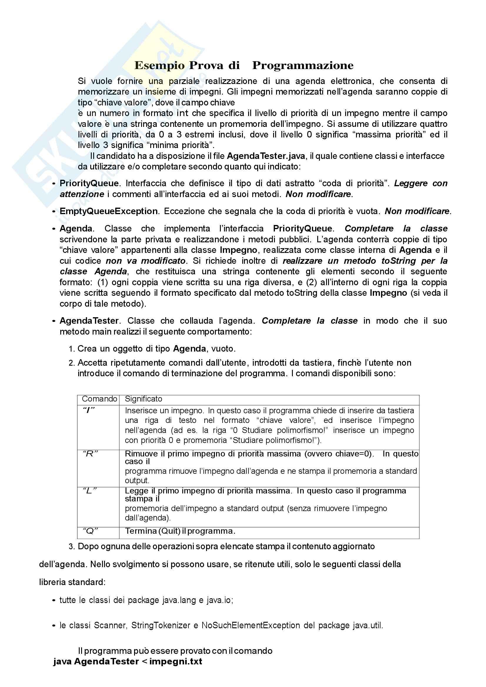 esercitazione F. Avanzini Informatica 1