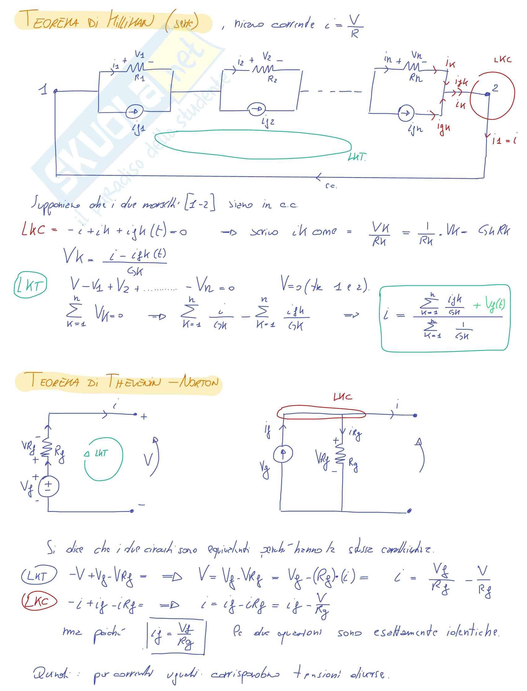 Orale completo Teoria Elettrotecnica - Appunti Pag. 2