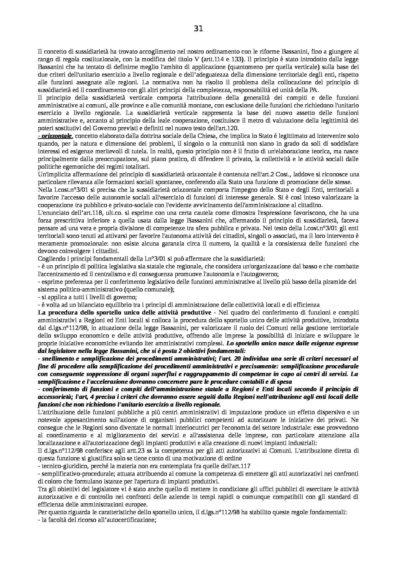 Riassunto esame Diritto Pubblico dell'Economia, prof. Capunzo, libro consigliato Argomenti di Diritto Pubblico dell'Economia di Capunzo Pag. 31