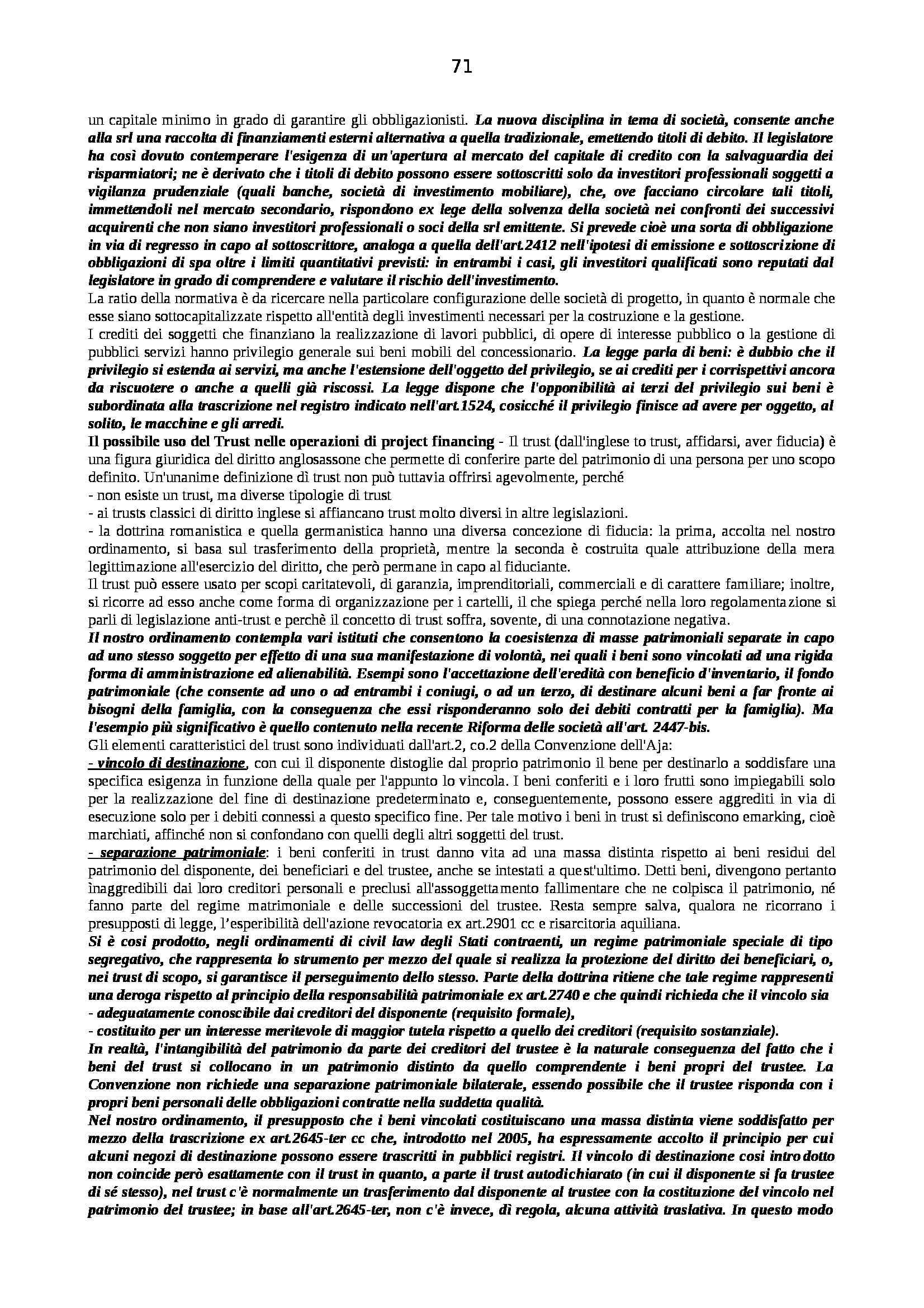 Riassunto esame Diritto Pubblico dell'Economia, prof. Capunzo, libro consigliato Argomenti di Diritto Pubblico dell'Economia di Capunzo Pag. 71