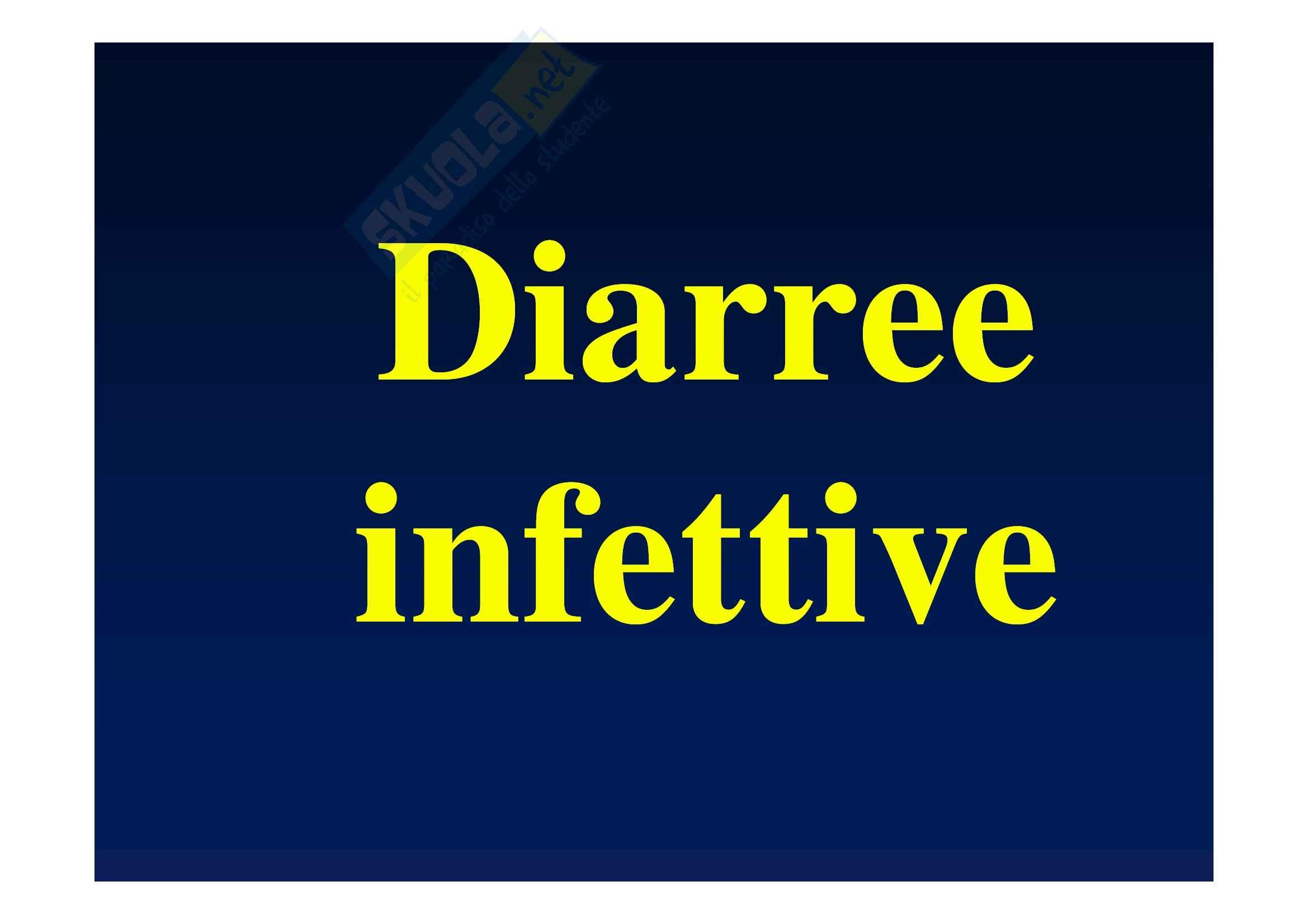Malattie infettive e tropicali - diarree infettive
