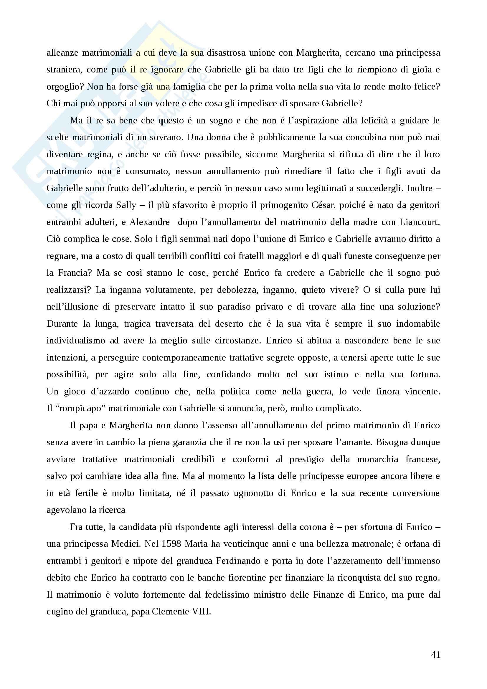 Riassunto esame Storia della pedagogia, prof. Colaci, libro consigliato Amanti e regine. Il potere delle donne di Cravieri Pag. 41