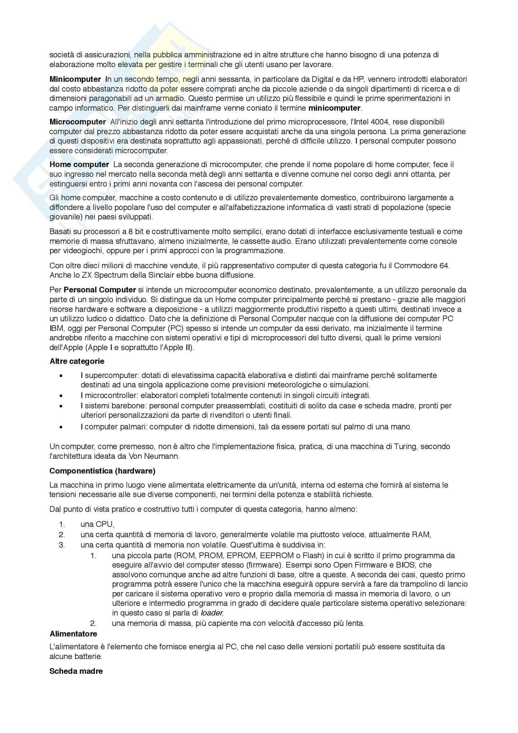 Informatica di base - Riassunto esame Pag. 2