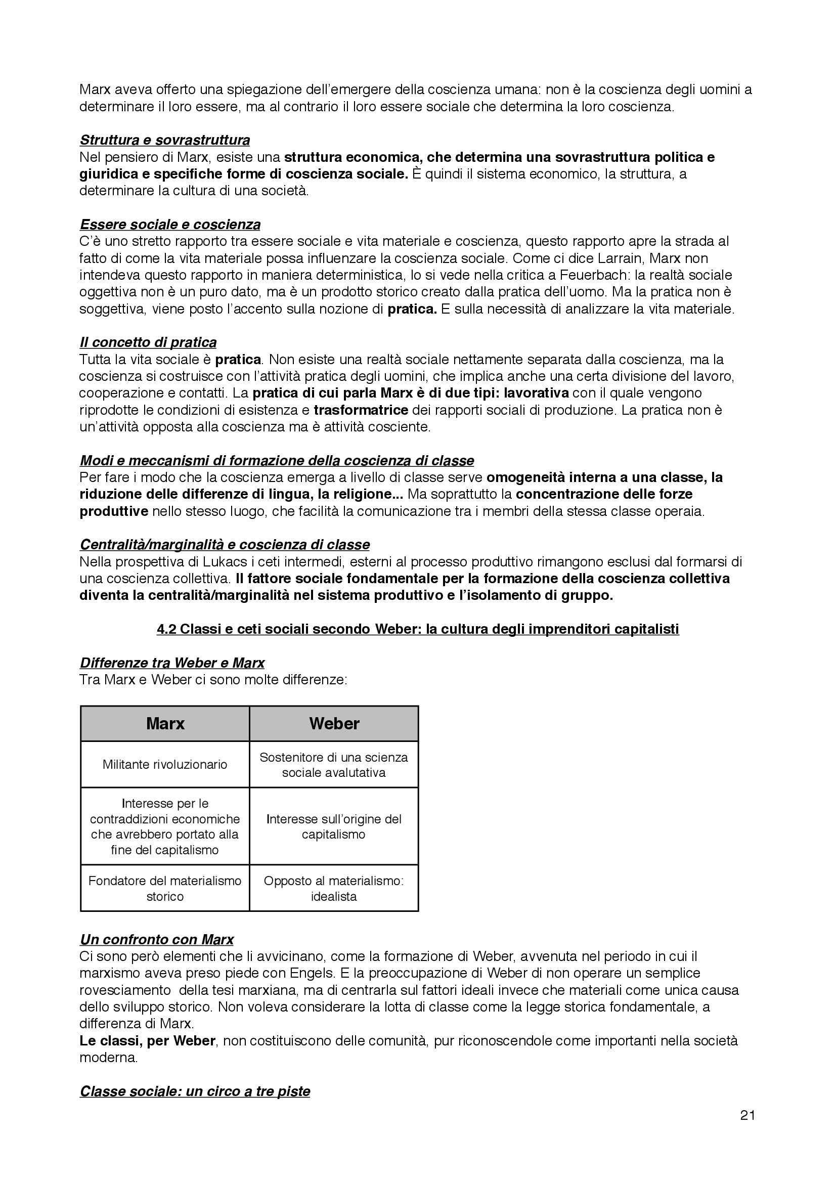 Riassunto esame Sociologia della cultura, prof. Bartoletti, libro consigliato Sociologia dei processi culturali, Sciolla Pag. 21
