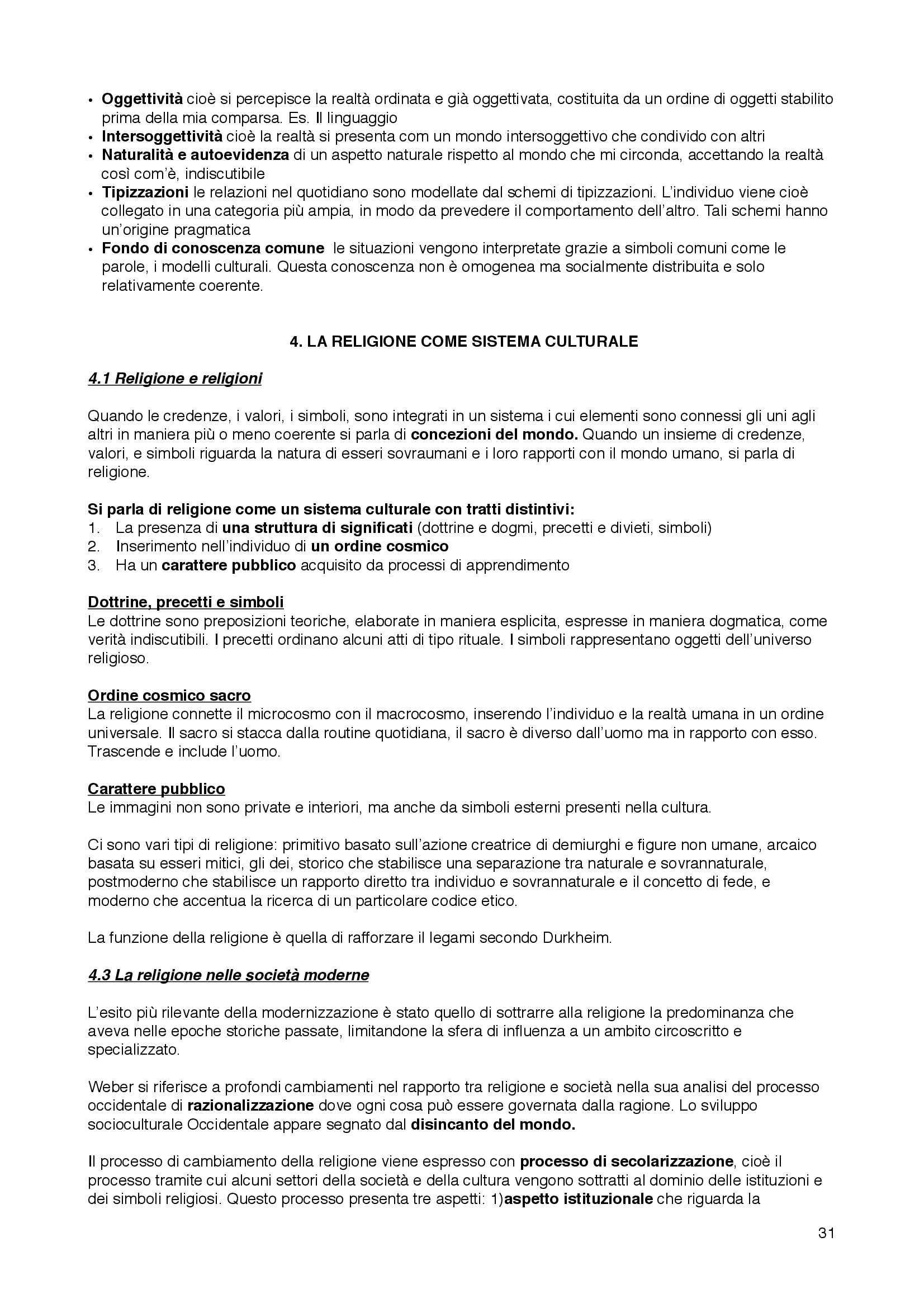 Riassunto esame Sociologia della cultura, prof. Bartoletti, libro consigliato Sociologia dei processi culturali, Sciolla Pag. 31