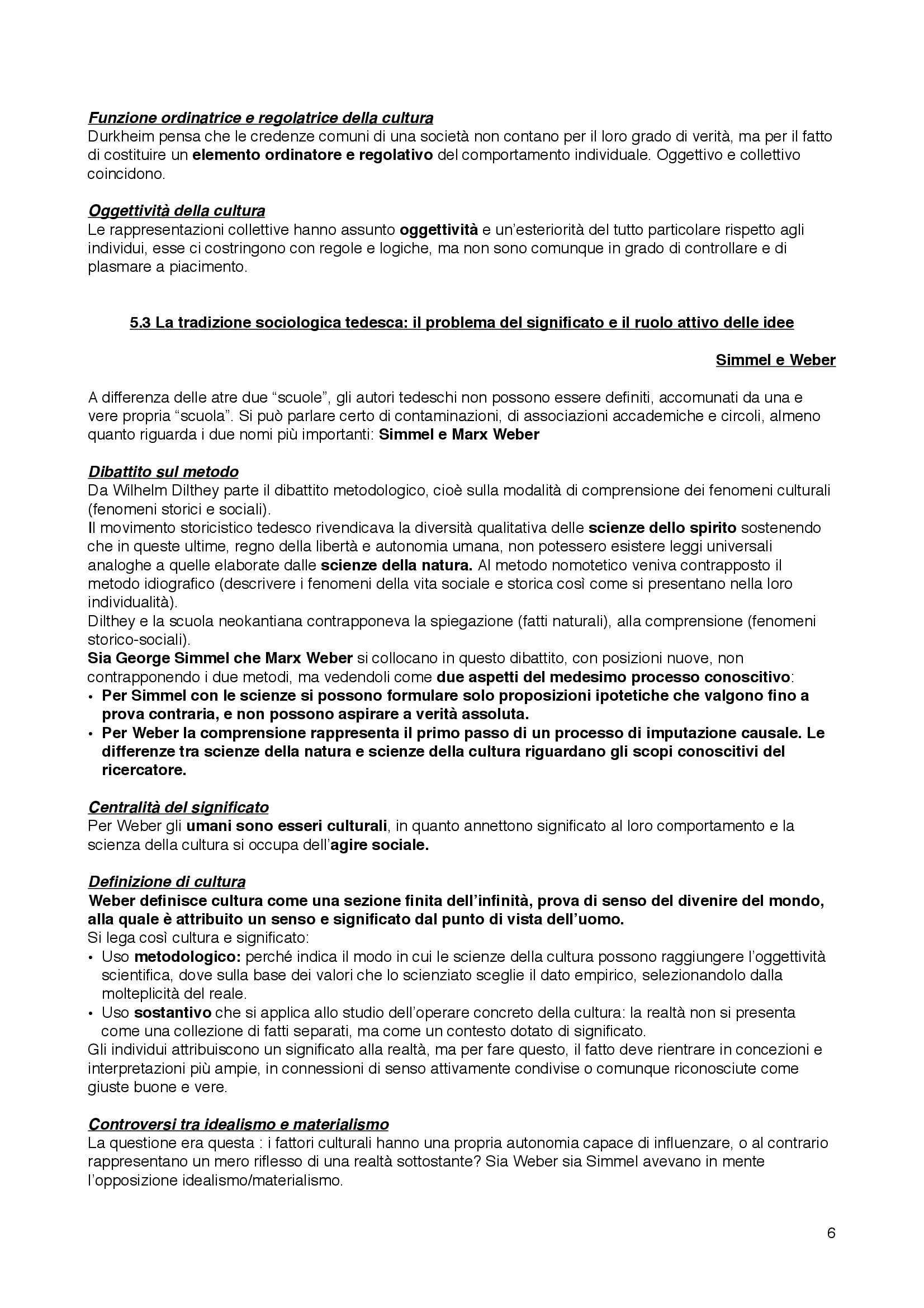 Riassunto esame Sociologia della cultura, prof. Bartoletti, libro consigliato Sociologia dei processi culturali, Sciolla Pag. 6