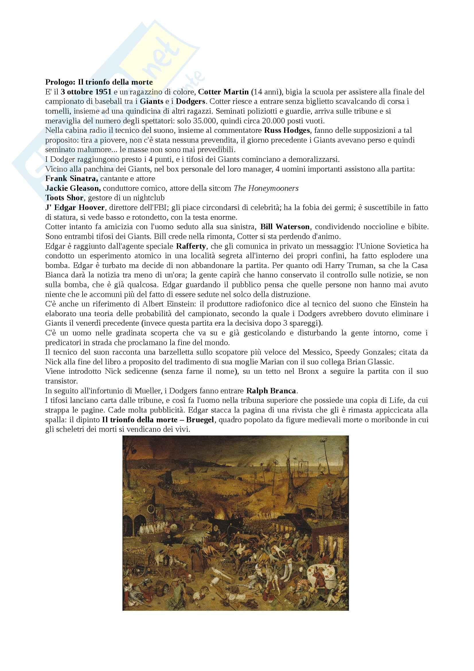 Riassunto esame Letterature Comparate, prof. Vittorini, libro consigliato Underworld, DeLillo