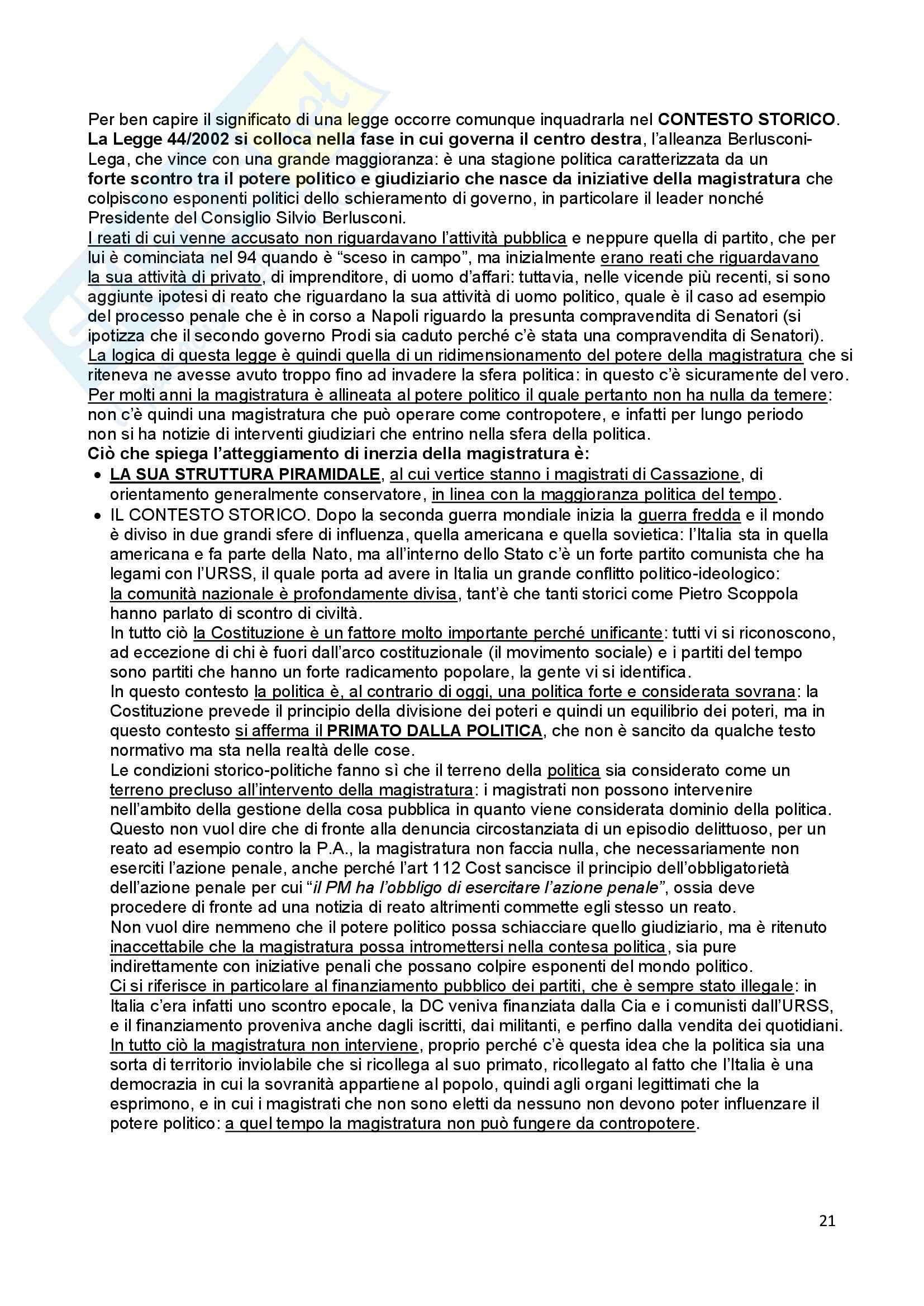Diritto costituzionale - Il potere giudiziario Pag. 21