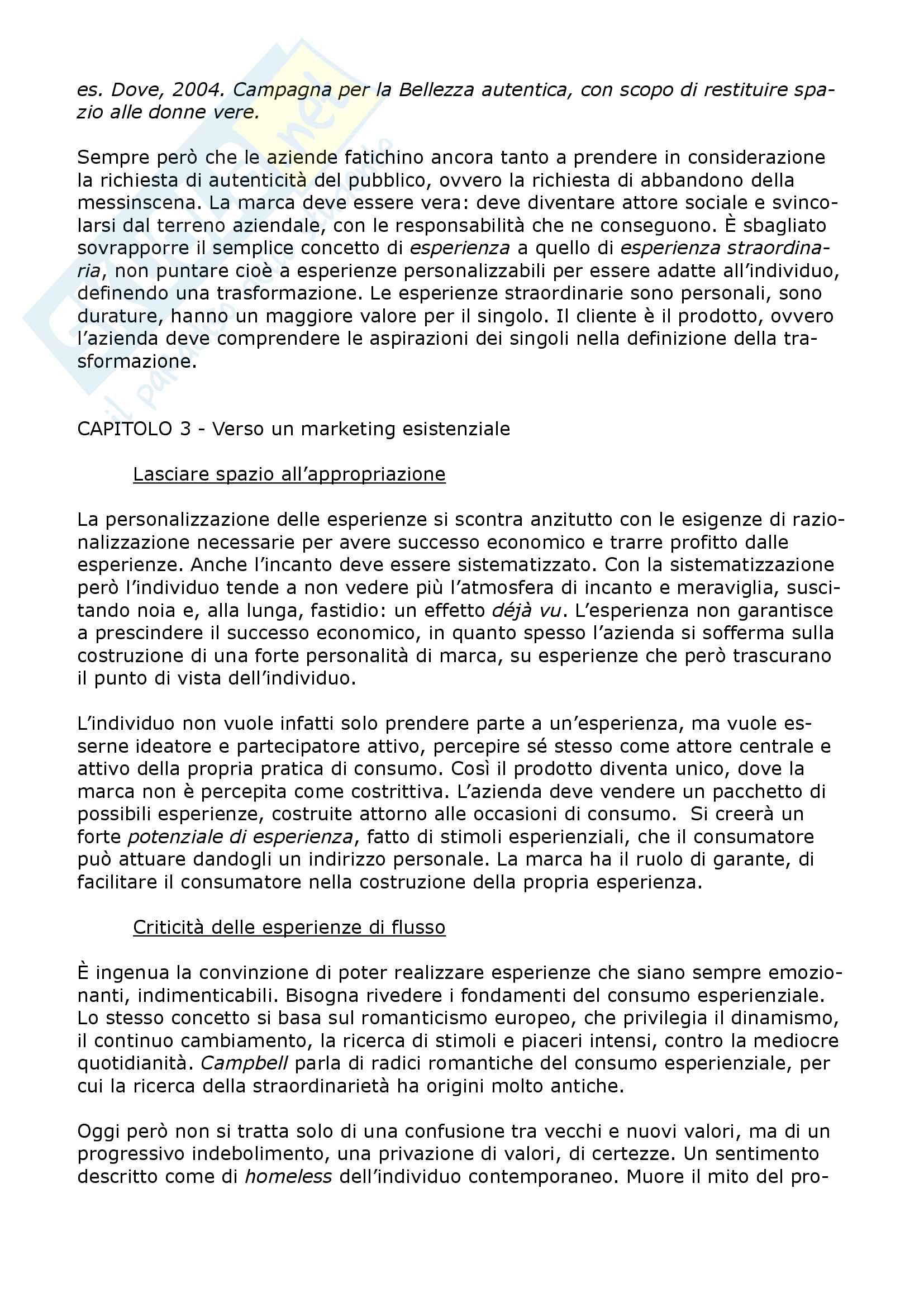 """Riassunto esame Comunicazione pubblicitaria e linguaggi mediali, prof. Boccia Artieri, libro consigliato """"Existential Marketing, Gnasso, Iabichino Pag. 6"""