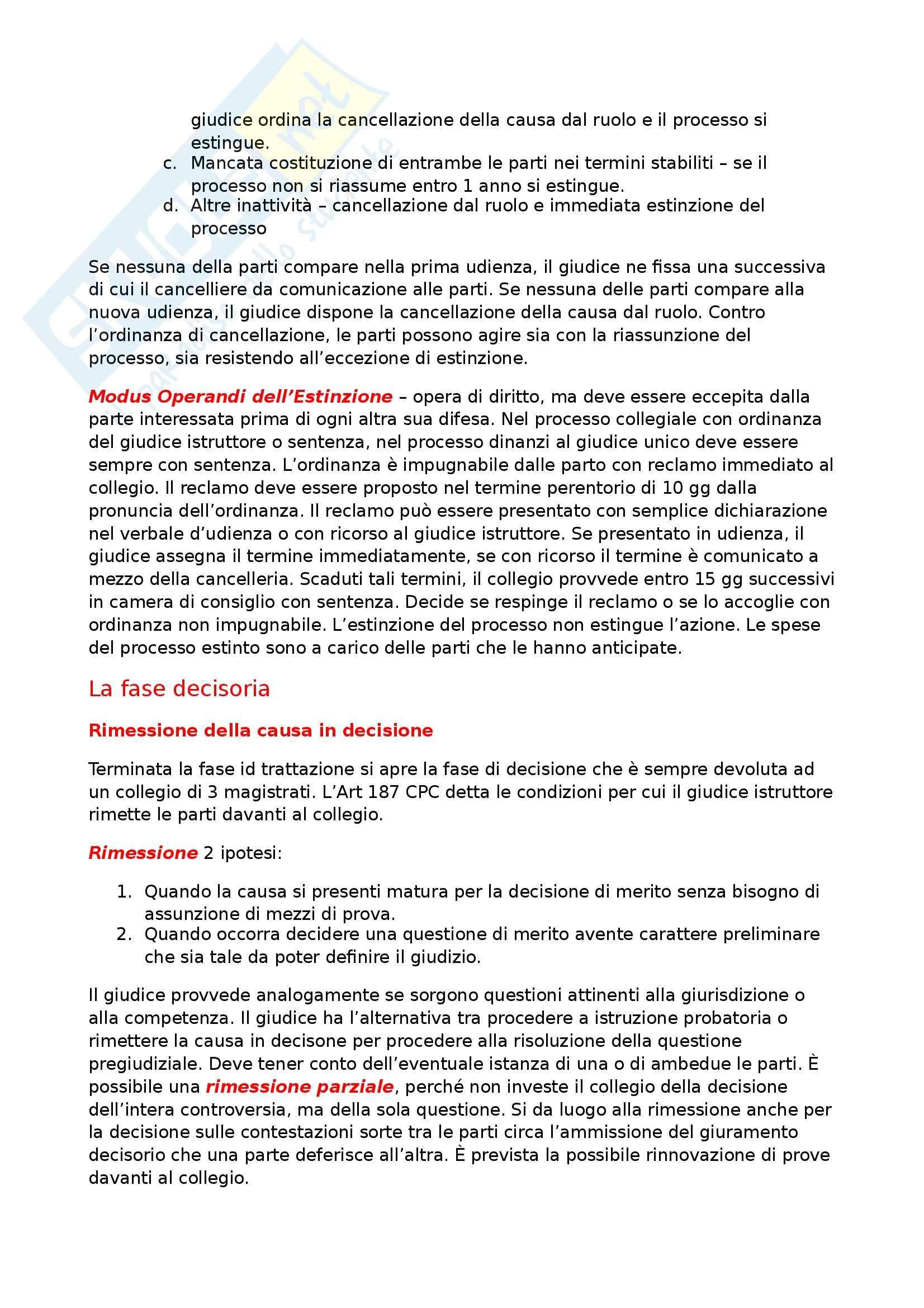 Riassunto esame Diritto Processuale Civile, prof. Maruffi Pag. 21