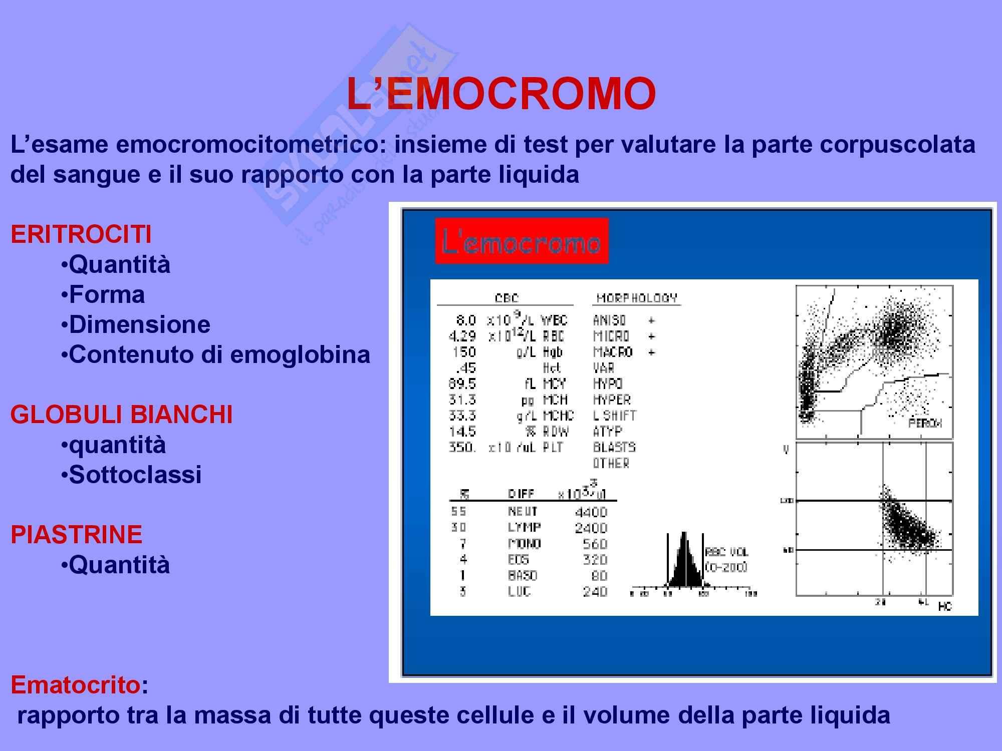Ematologia - Emocromo