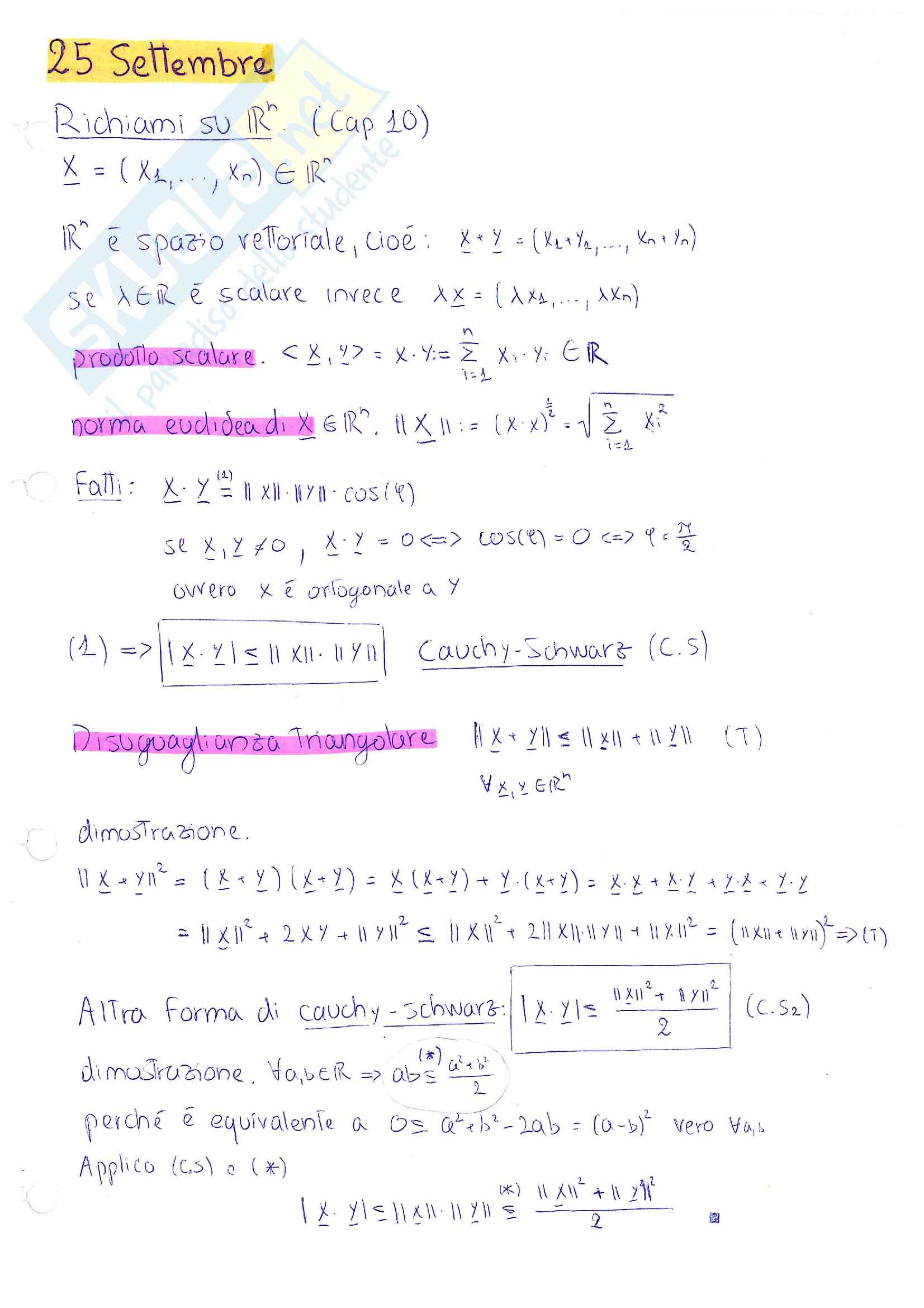 Analisi Matematica 2 - Quaderno appunti definitivo 2017/2018