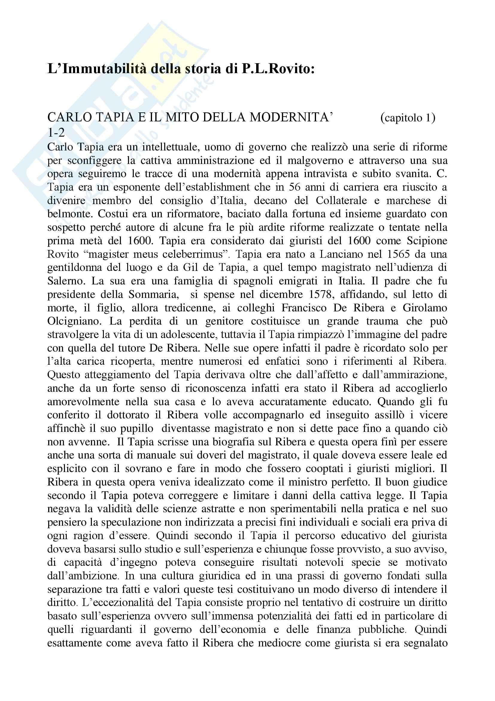 Storia diritto medievale e moderno - Appunti