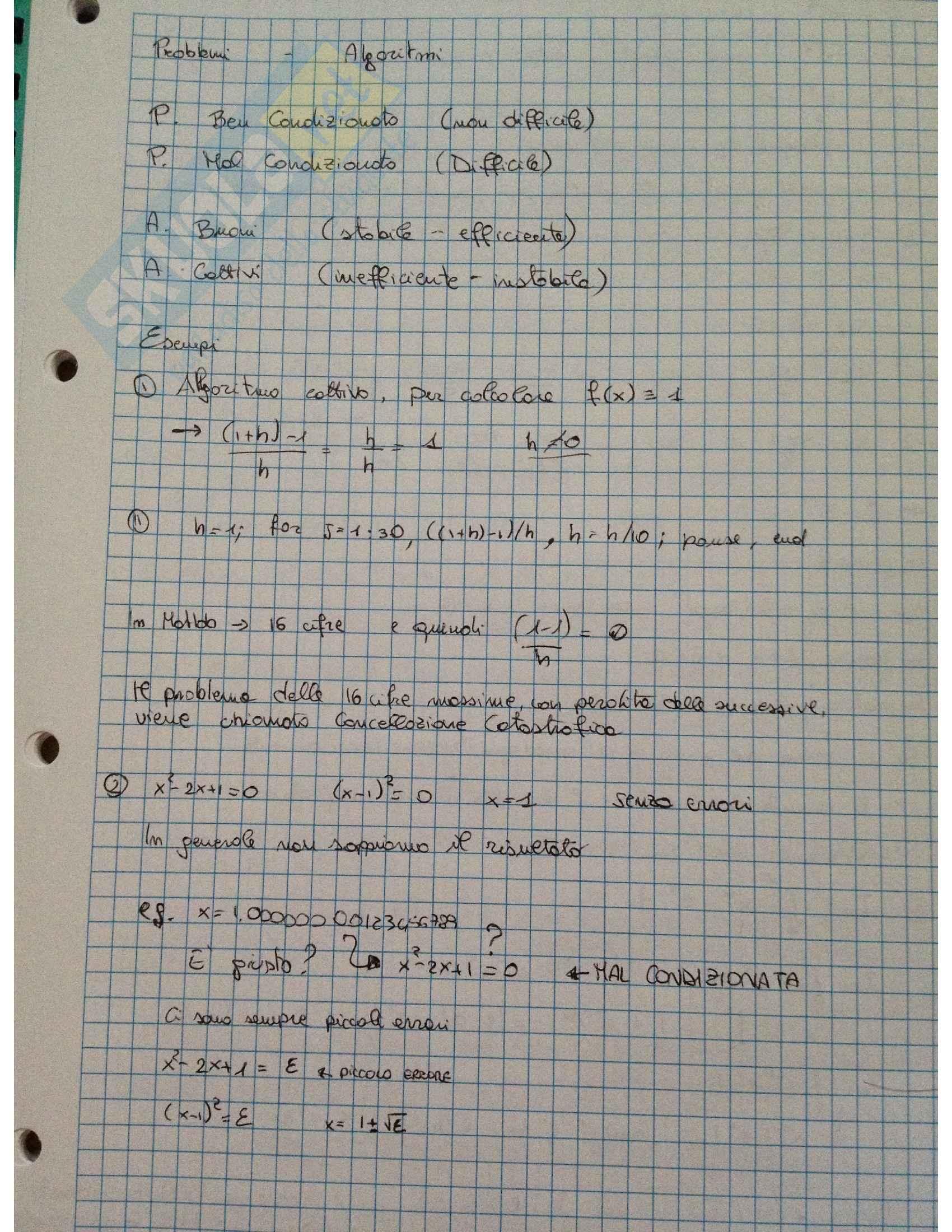 Calcolo numerico - Appunti