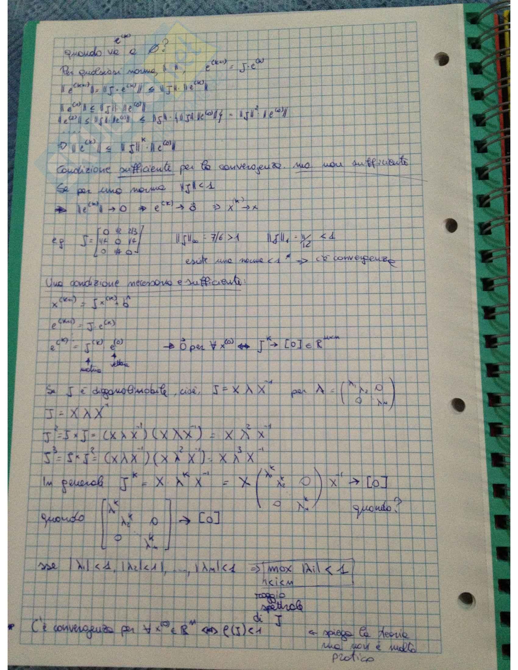 Calcolo numerico - Appunti Pag. 31