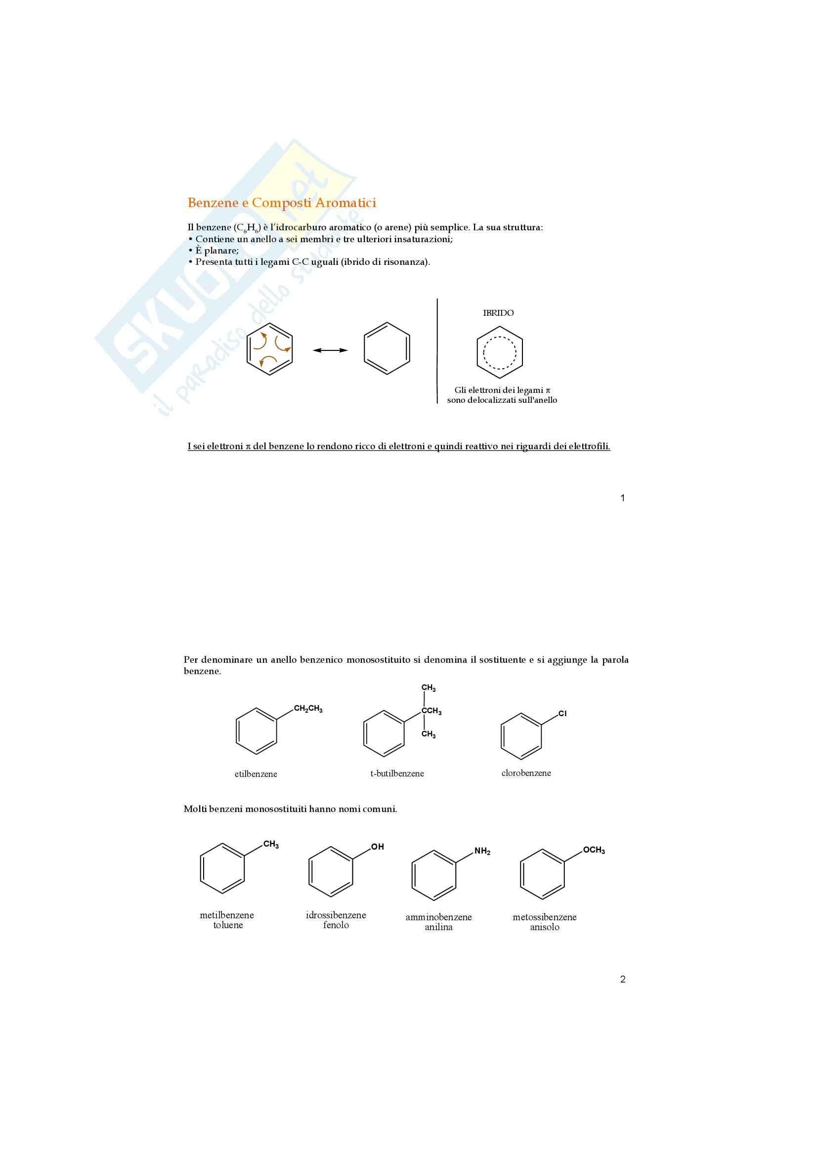 Chimica organica - composti aromatici
