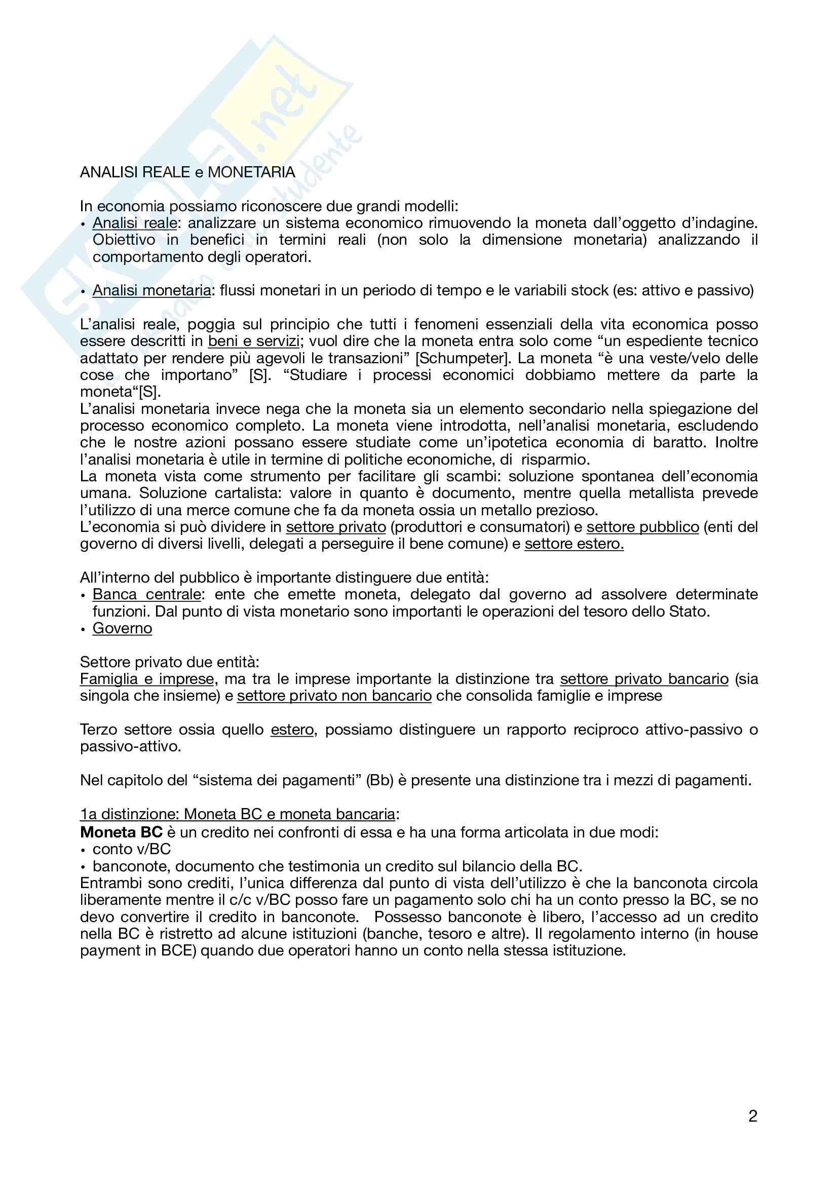 Economia monetaria, appunti Pag. 2