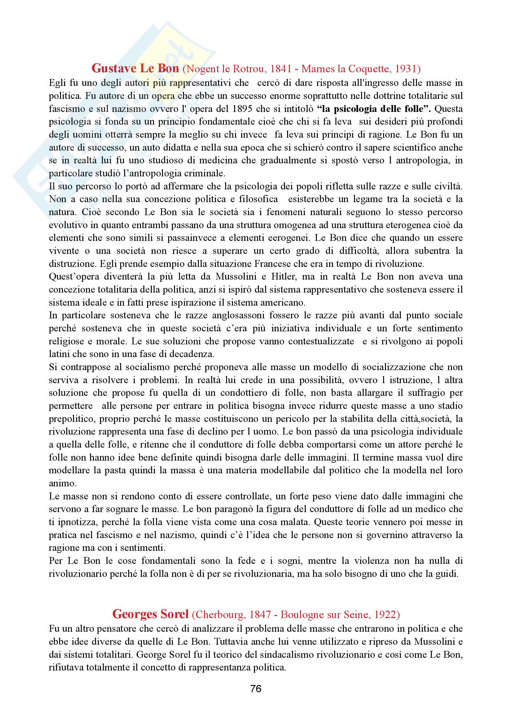 Storia del pensiero politico-dottrine politiche Pag. 76
