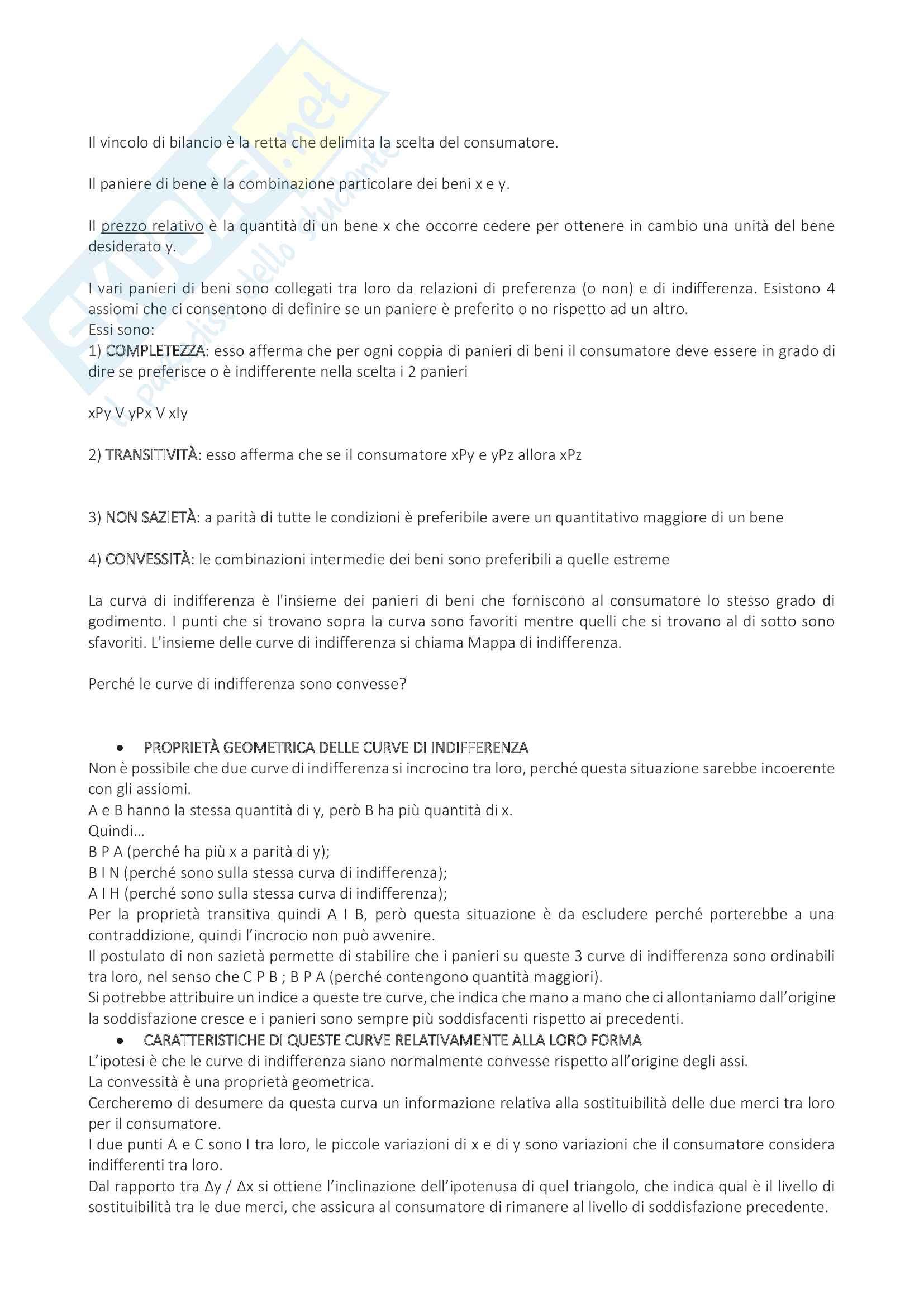 Appunti di microeconomia Pag. 6