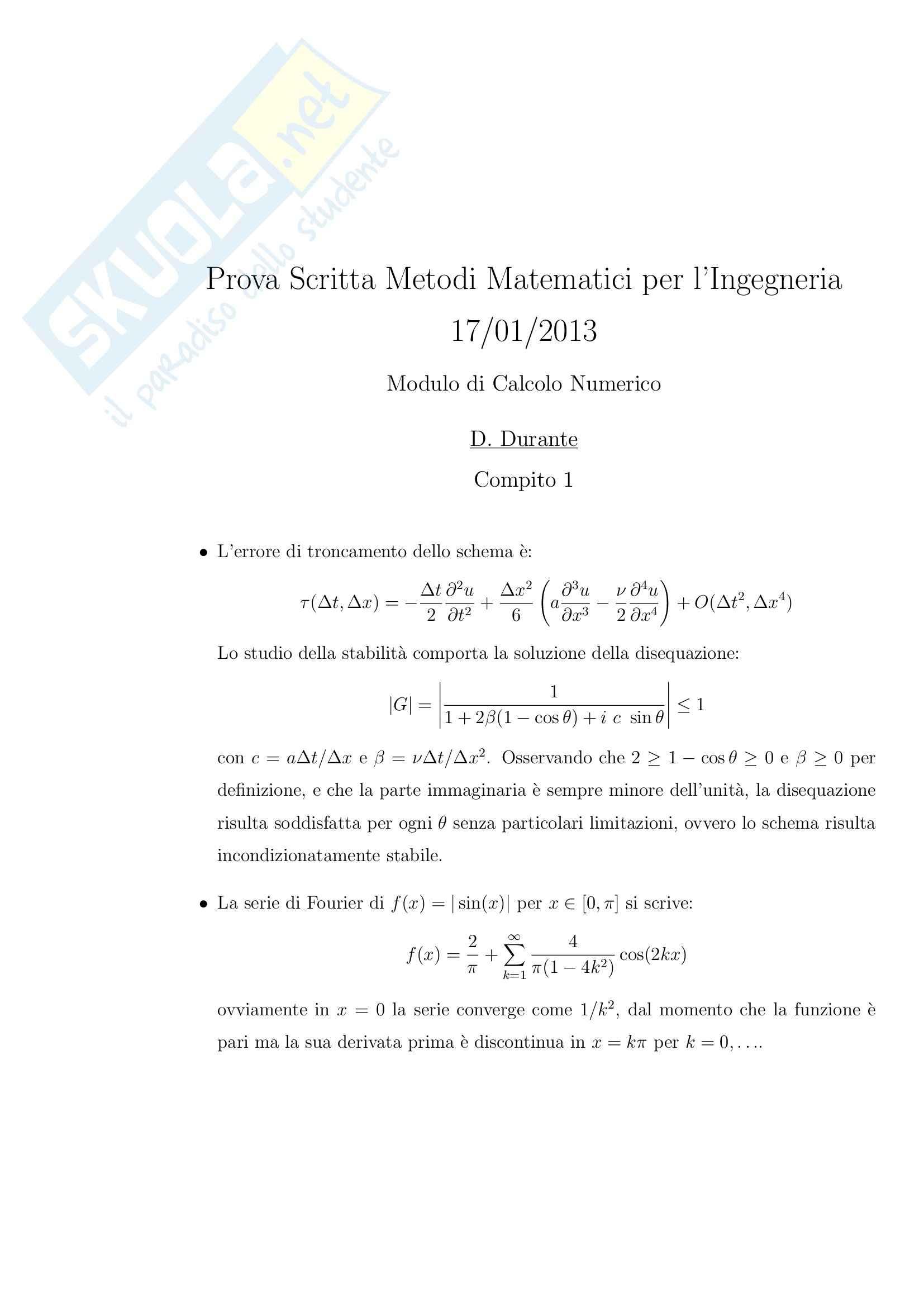 Metodi matematici per l'informatica - esercizi