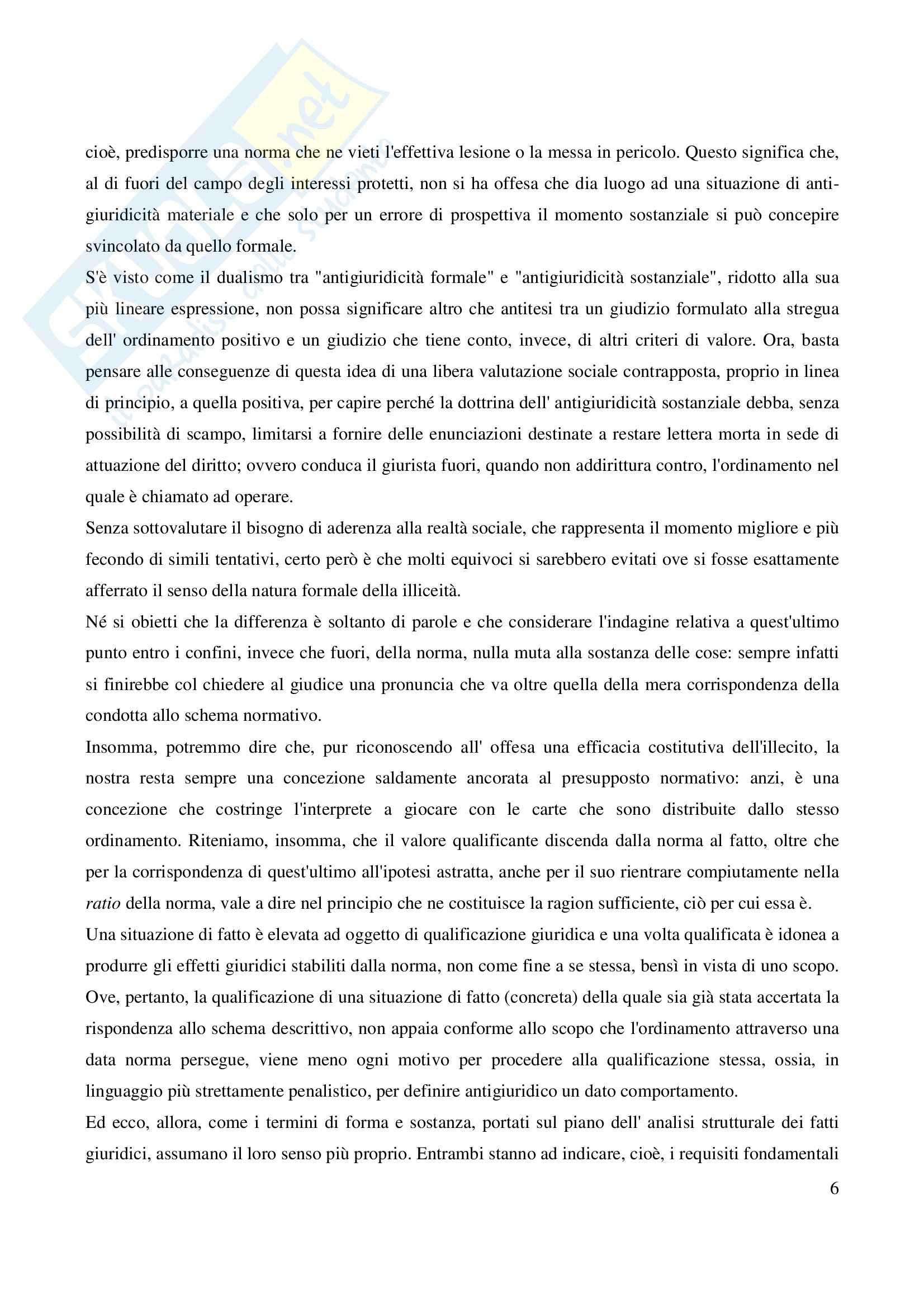 Riassunto esame Diritto Penale, prof. Coppi, libro consigliato Diritto Penale, Gallo Pag. 6