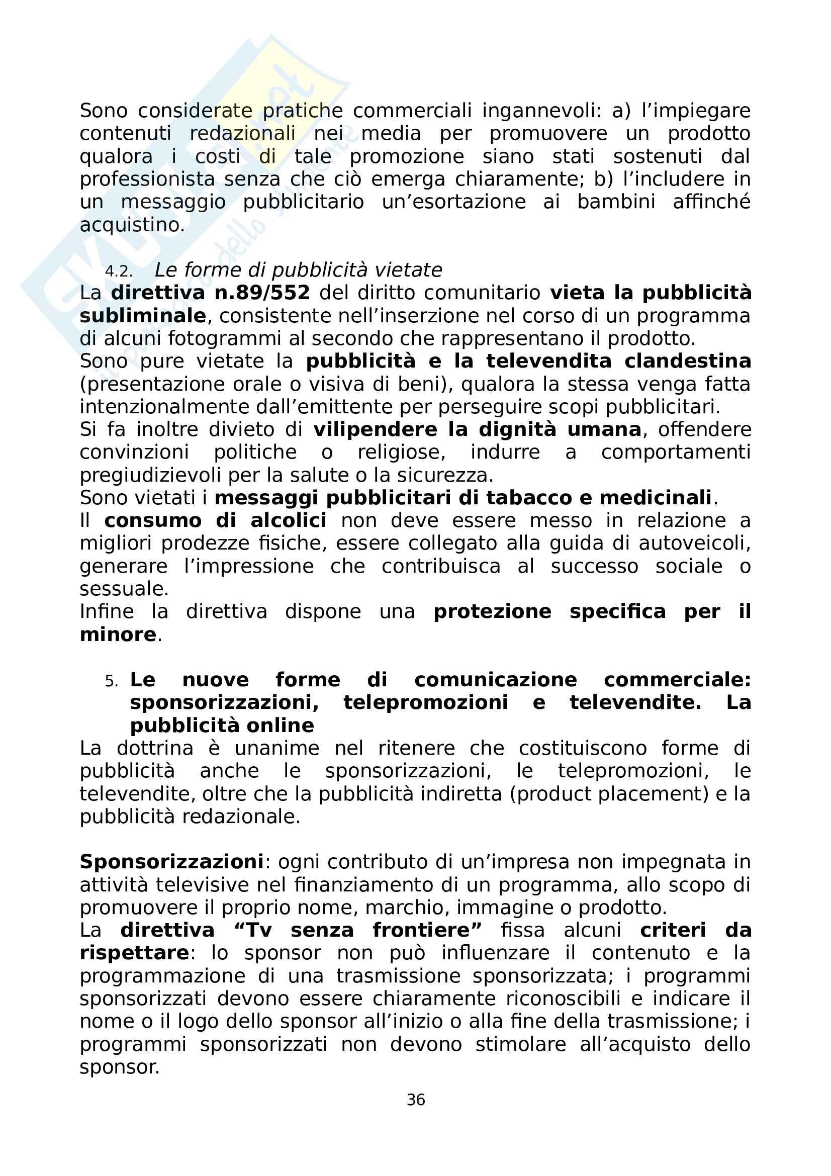 Riassunto esame Diritto dell'Informazione, prof. Migliazza, libro consigliato Profili di Diritto Europeo, Parisi Pag. 36