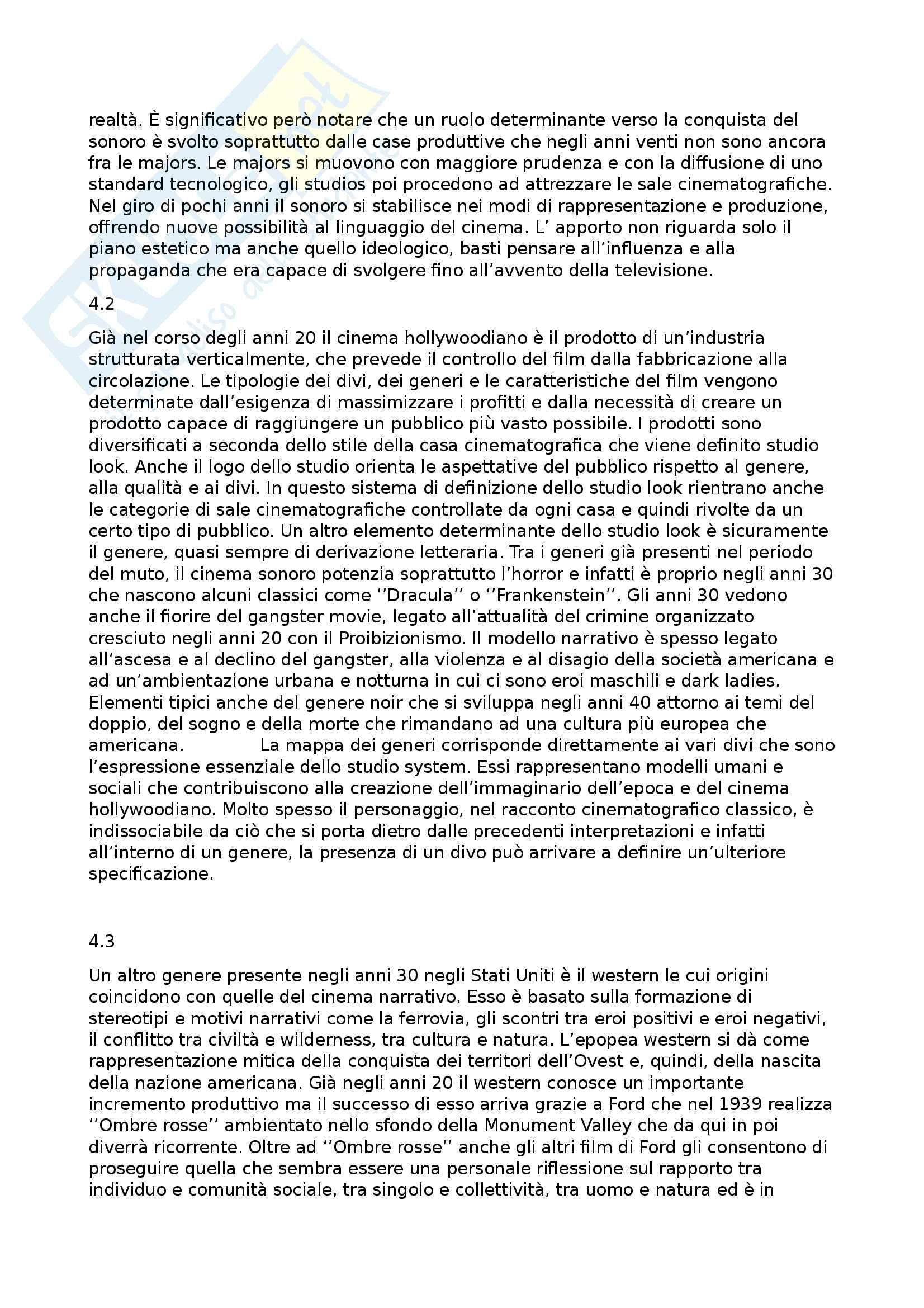 Riassunto esame Storia e critica del cinema, prof. Annunziata, libro consigliato Introduzione alla storia del cinema, Bertetto Pag. 6