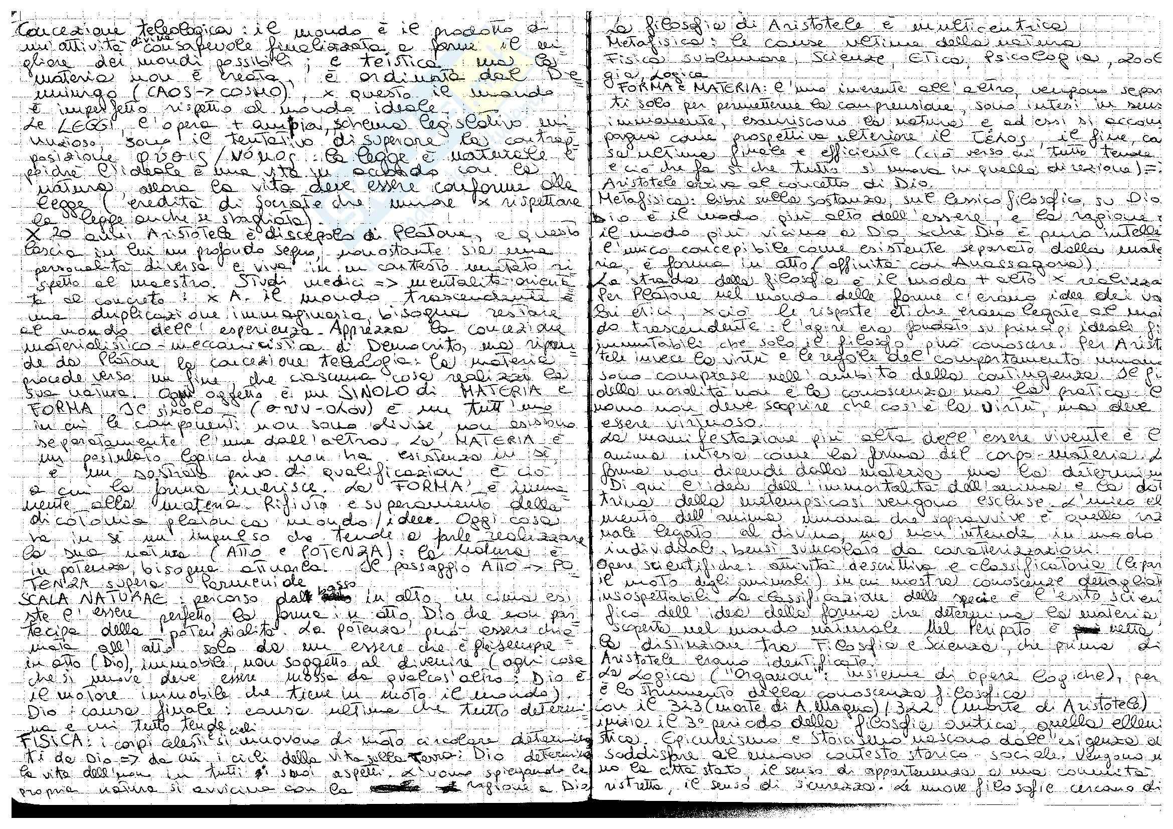 Aristotele - Materia e forma, atto e potenza