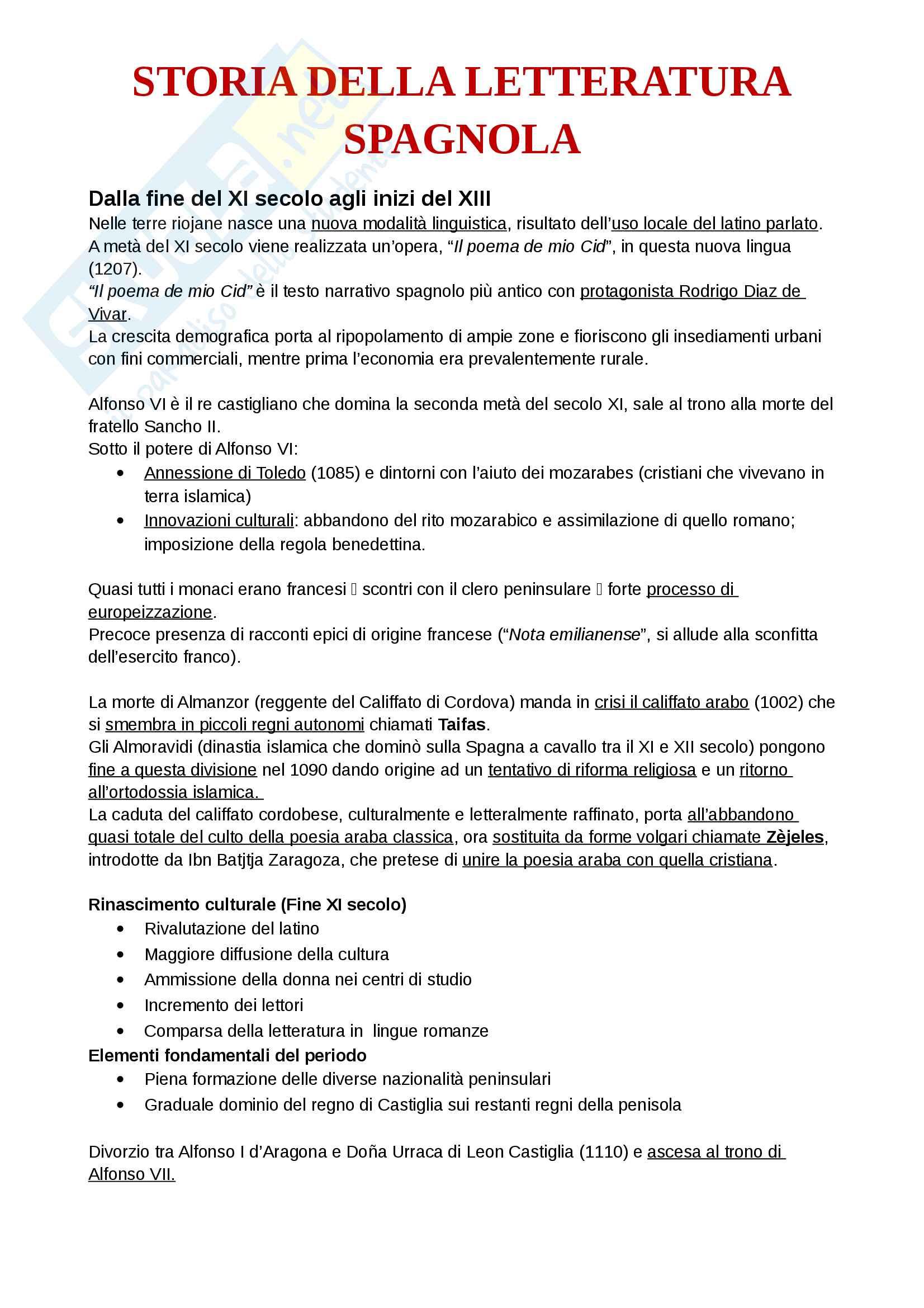 Letteratura Spagnola: Il Medioevo | Unicatt Milano