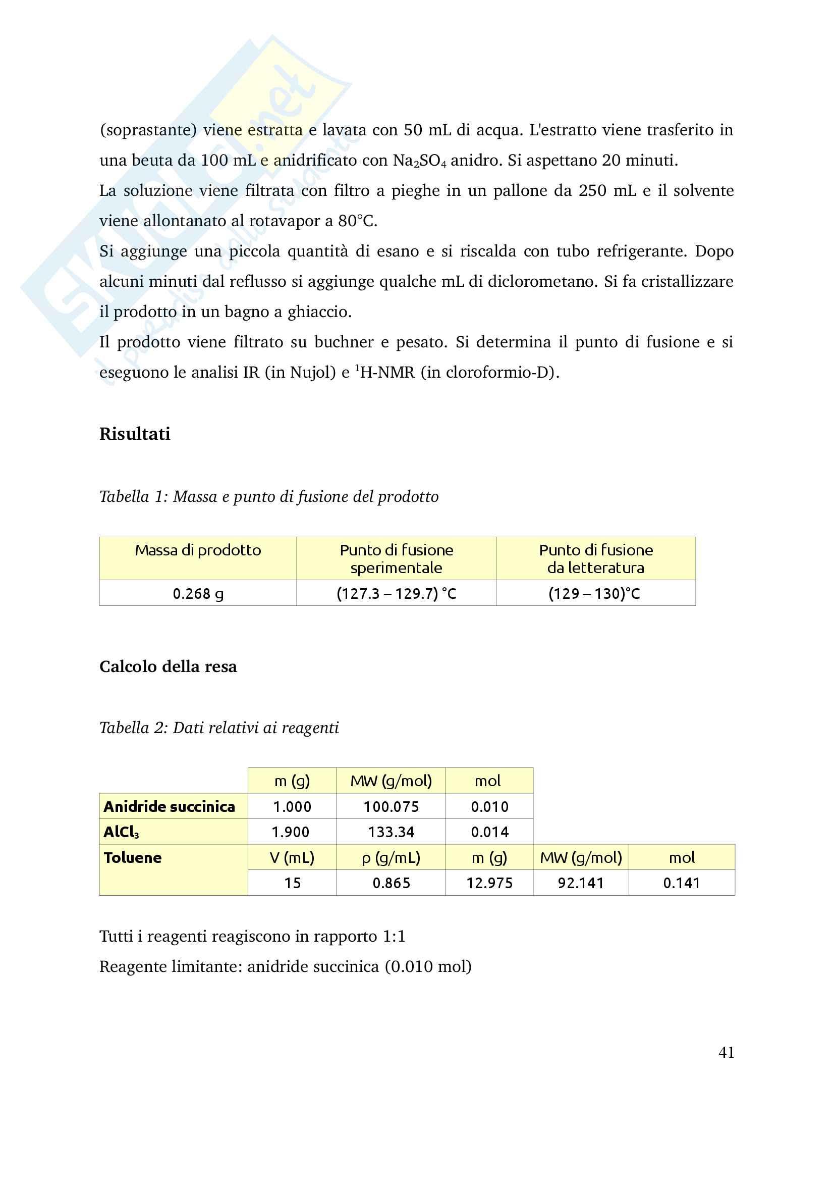 Relazioni di Chimica Organica II Pag. 41