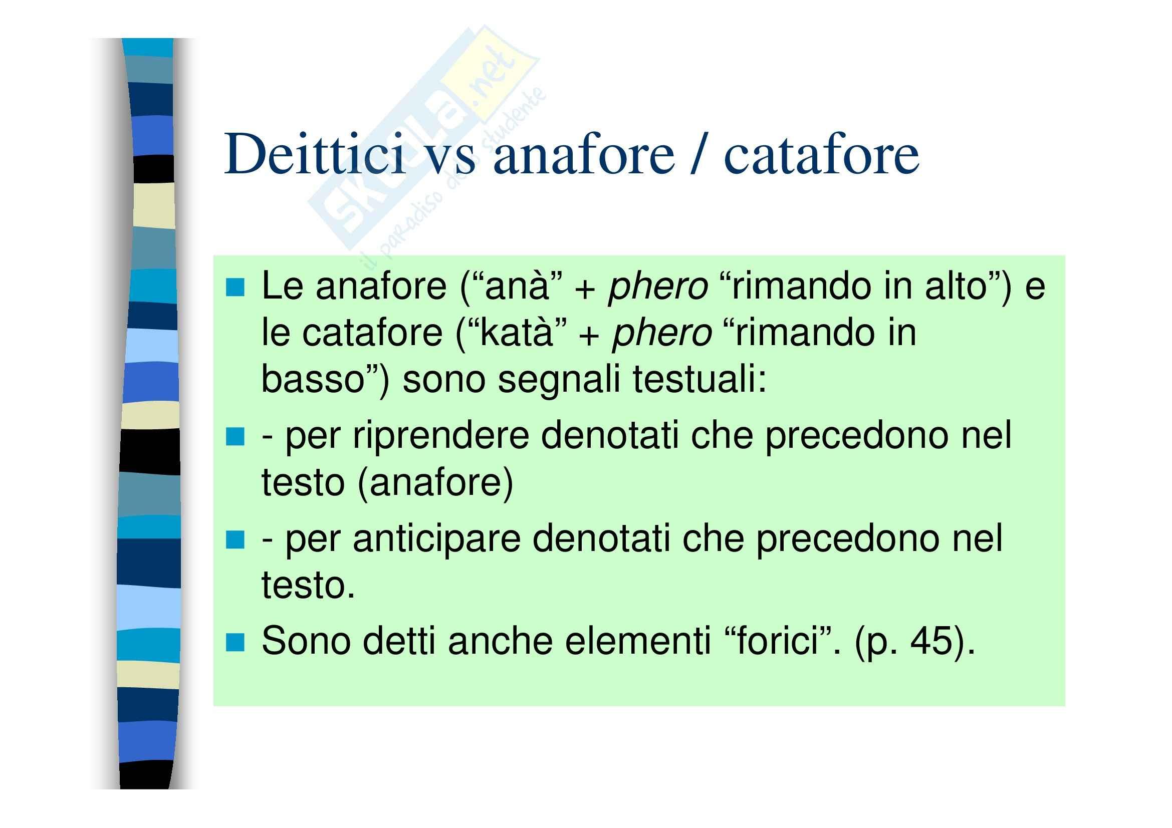 Deissi, anafora, ostensione Pag. 2