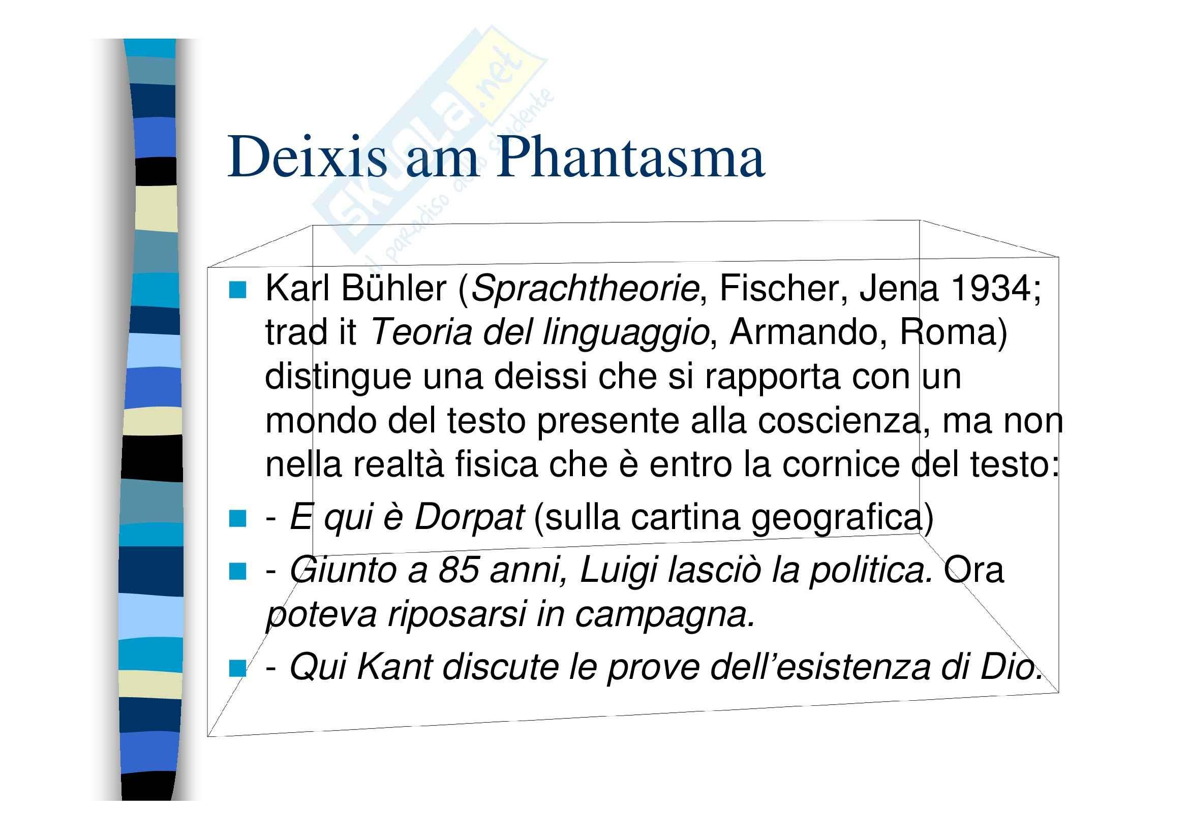 Deissi, anafora, ostensione Pag. 6