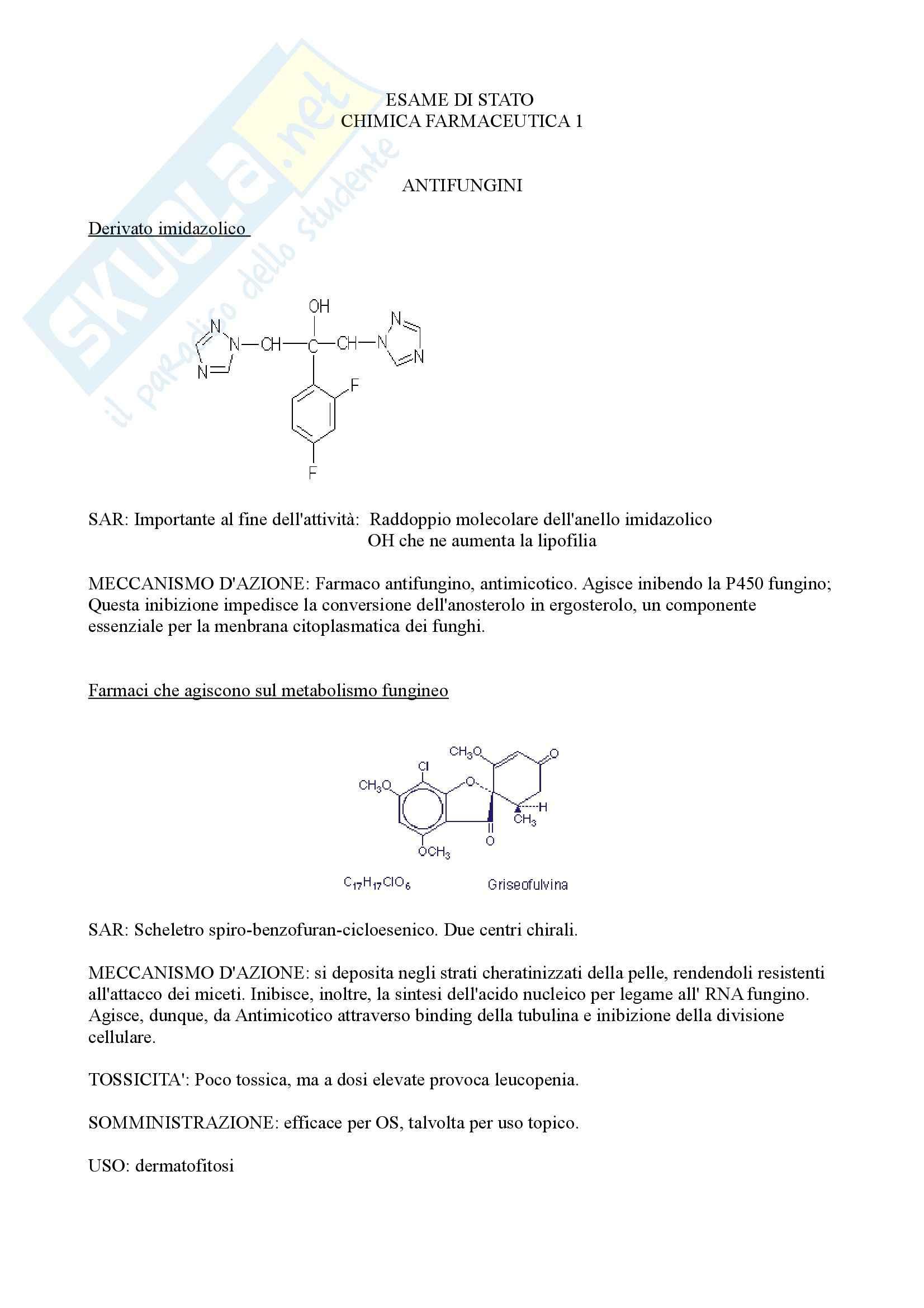 appunto G. Caccialanza Chimica farmaceutica I