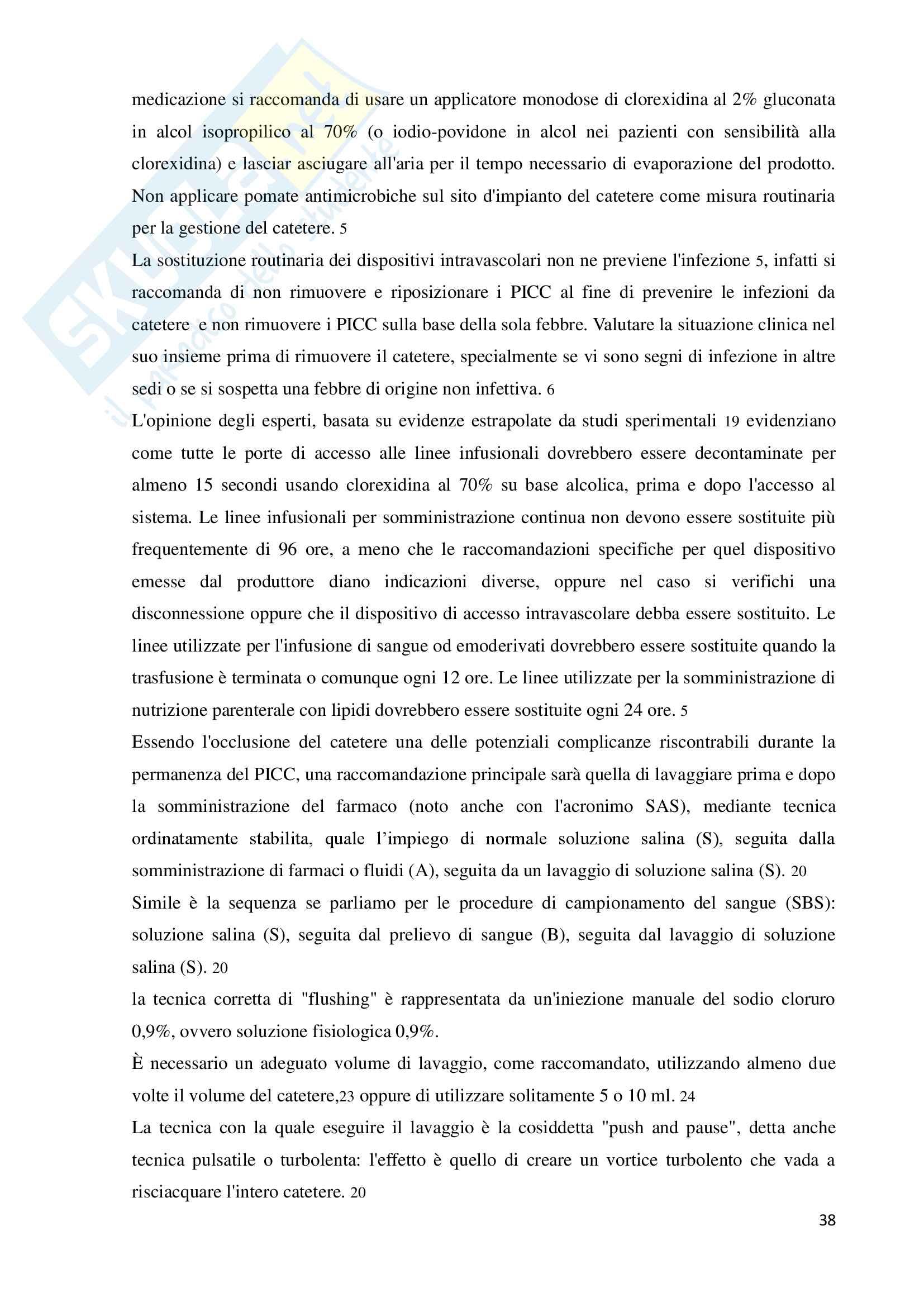 L'infermiere in evoluzione: impianto e gestione del PICC (Peripherally Inserted Central Catheter) Pag. 41