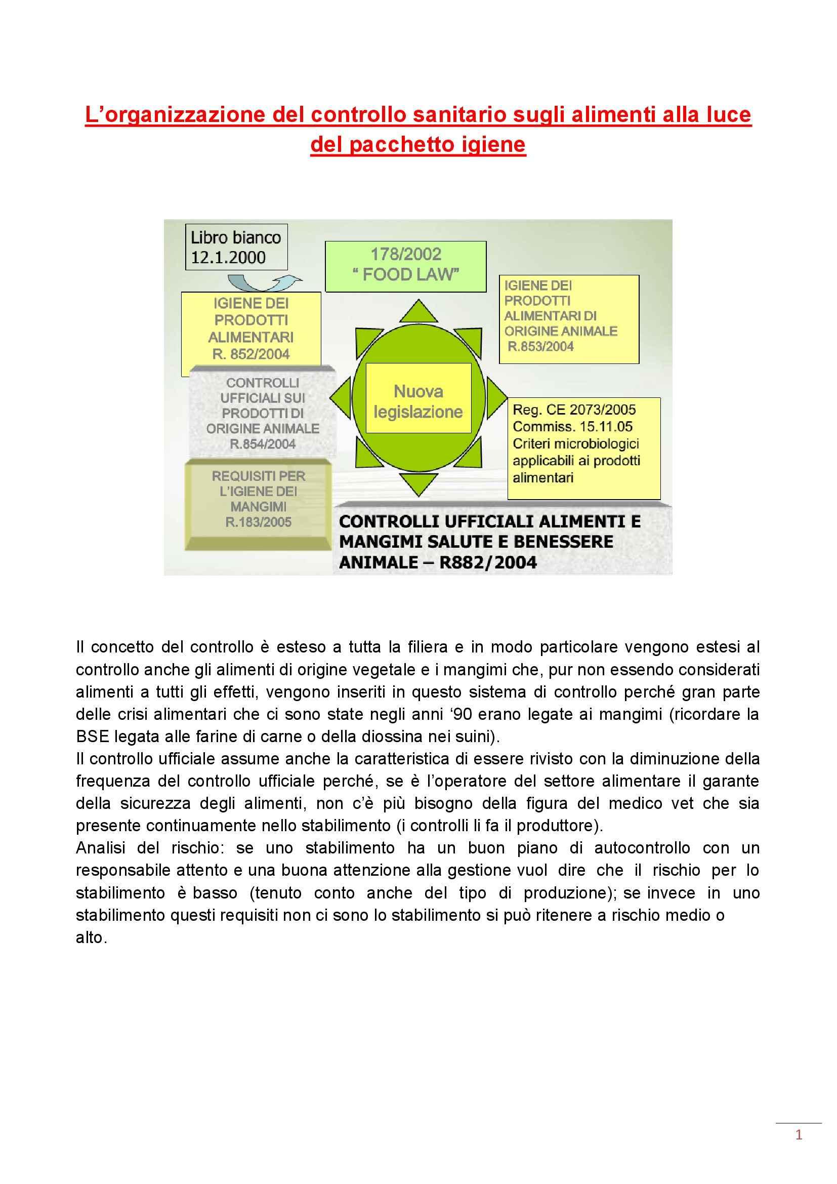 Ispezione degli alimenti di origine animale - Appunti