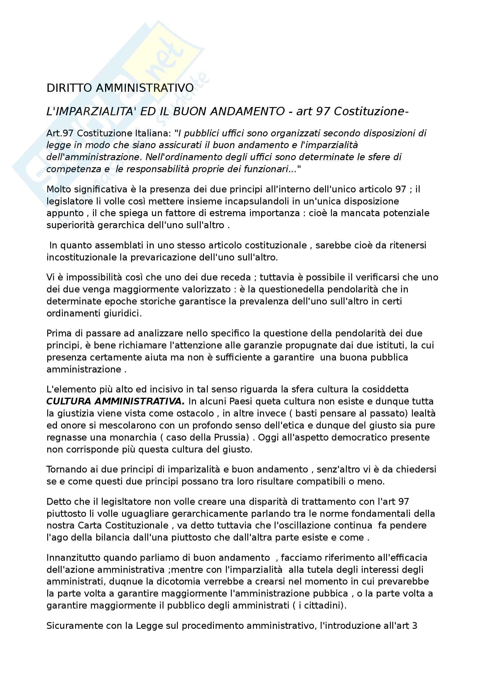 Diritto amministrativo 2 - Analisi dell'ART 97 della Costituzione