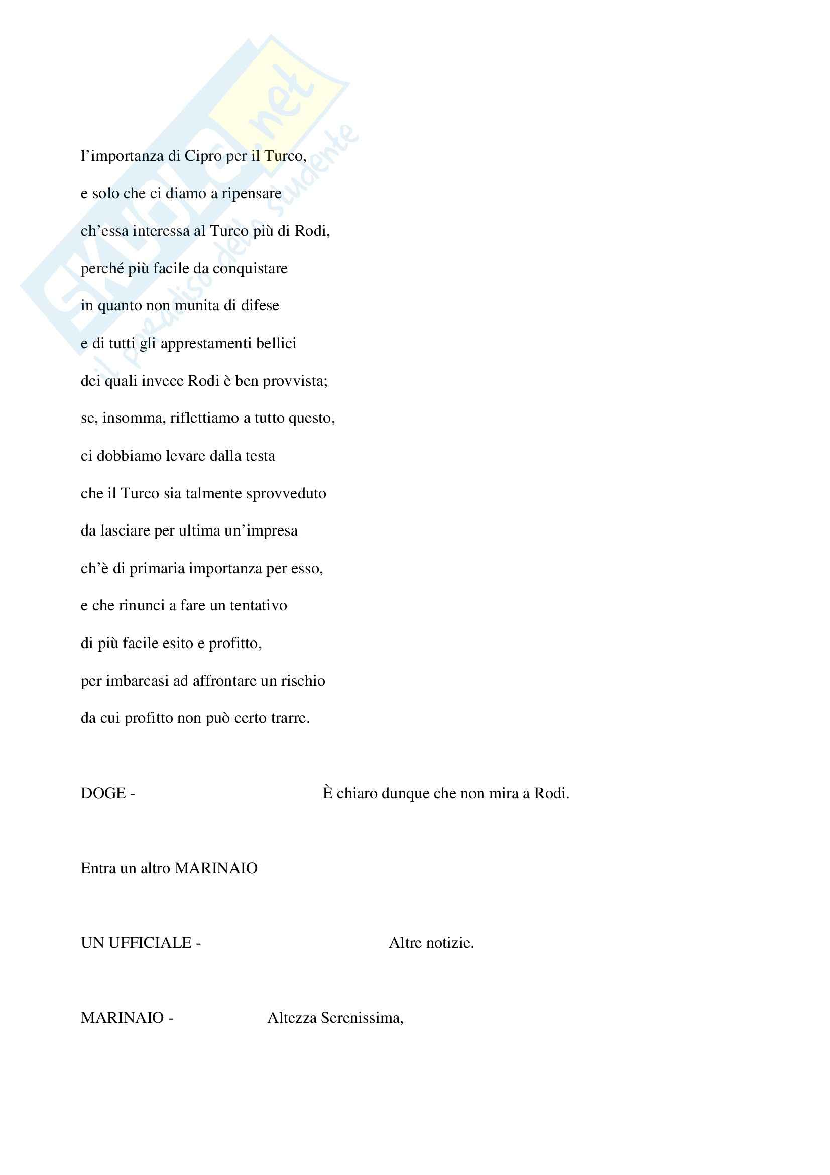 Otello, Shakespeare - Testo completo Pag. 31