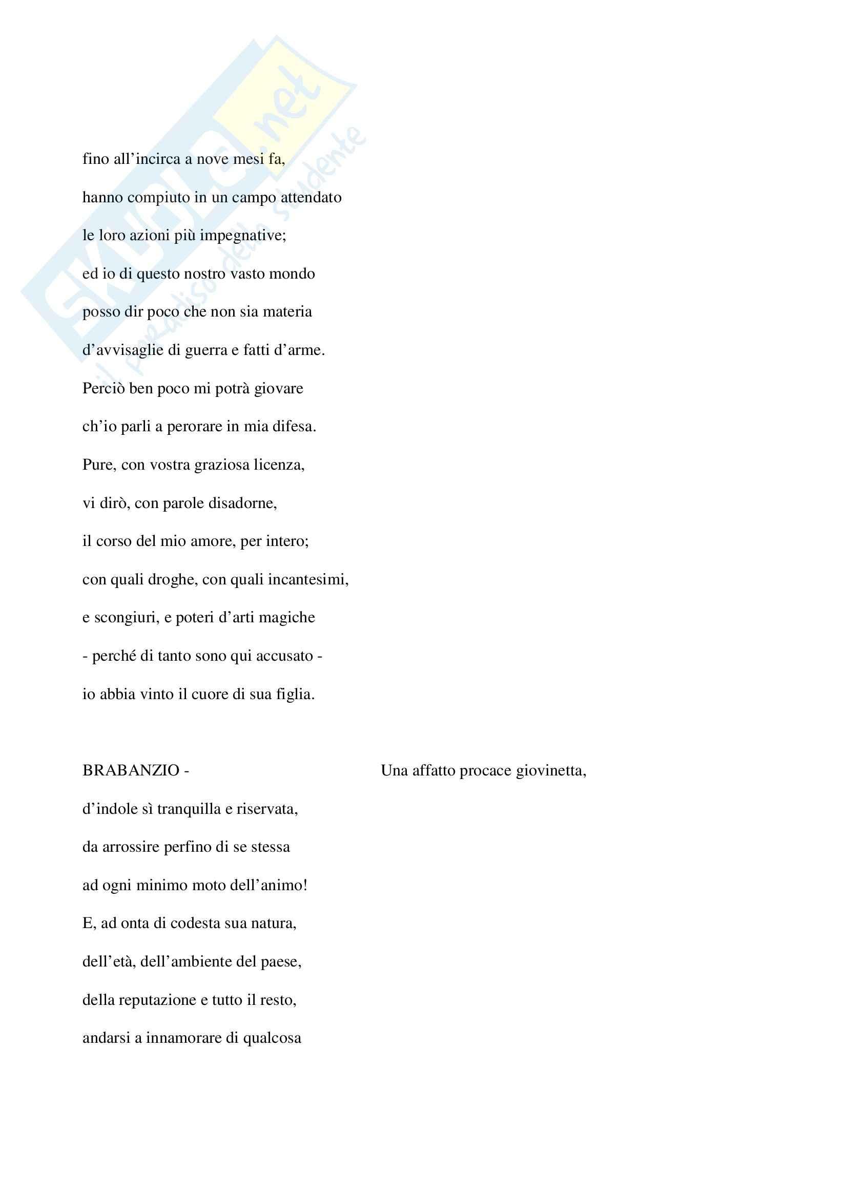 Otello, Shakespeare - Testo completo Pag. 36
